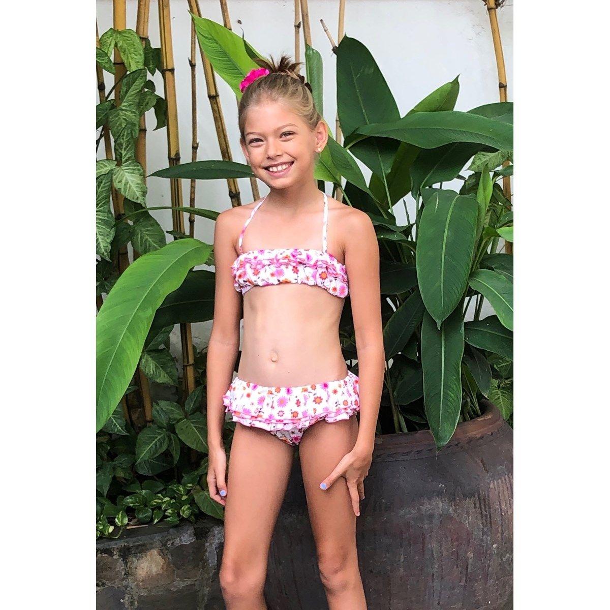 Bikini - maillot de bain deux pièces - à volants - SWAN