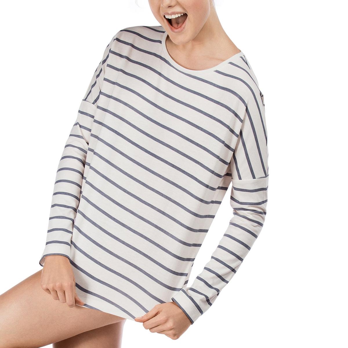 Футболка с длинными рукавами, 100% хлопокФутболка с длинными рукавами Loungewear Collection от Skiny . Футболка прямого покроя с круглым вырезом . Состав и описание :Основной материал : 65% хлопка, 35% полиэстераМарка : Skiny УходМашинная стирка при 30 °CСтирать вместе с одеждой подобных цветов<br><br>Цвет: темно-синий в полоску<br>Размер: 44 (FR) - 50 (RUS).42 (FR) - 48 (RUS)