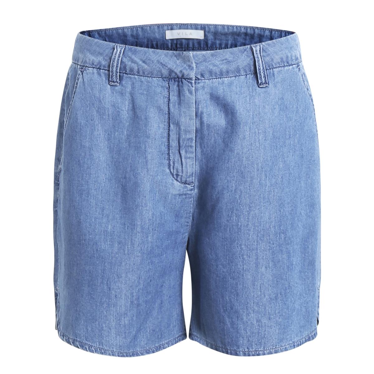 Шорты лёгкие под джинсу, закруглённые прорези по бокам