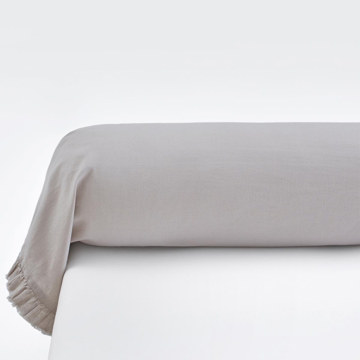 Наволочка однотонная на подушку-валик, из льна и хлопка , NILLOWНаволочка на подушку-валик Nillow качество Qualit? Best. Благородный и элегантный материал из льна и хлопка в нежных и теплых тонах. Очарование и сияющая красота постельного белья Nillow.Характеристики наволочкиNillow :Смесовый материал: 60% льна, 40% хлопка : мягкая и элегантная ткань из льна и хлопка с легким жатым эффектом проста в уходе.Отделка бахромой по краямСтирать при 40°, можно не гладить.Весь комплект постельного белья Nillow Вы найдете на laredoute.ruЗнак Oeko-Tex® гарантирует, что товары прошли проверку и были изготовлены без применения вредных для здоровья человека веществ.ХарактеристикиРазмеры :85 x 185 см : наволочка на подушку-валик<br><br>Цвет: бежевый,серо-голубой<br>Размер: 85 x 185 см