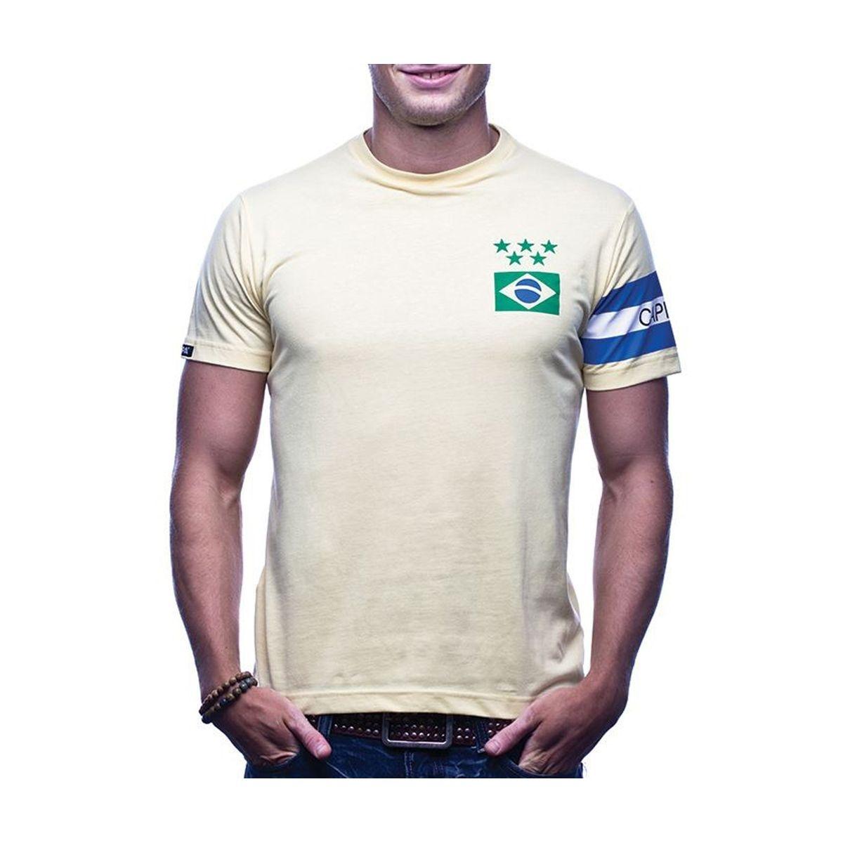 T-shirt Rétro Brésil Capitaine Jaune