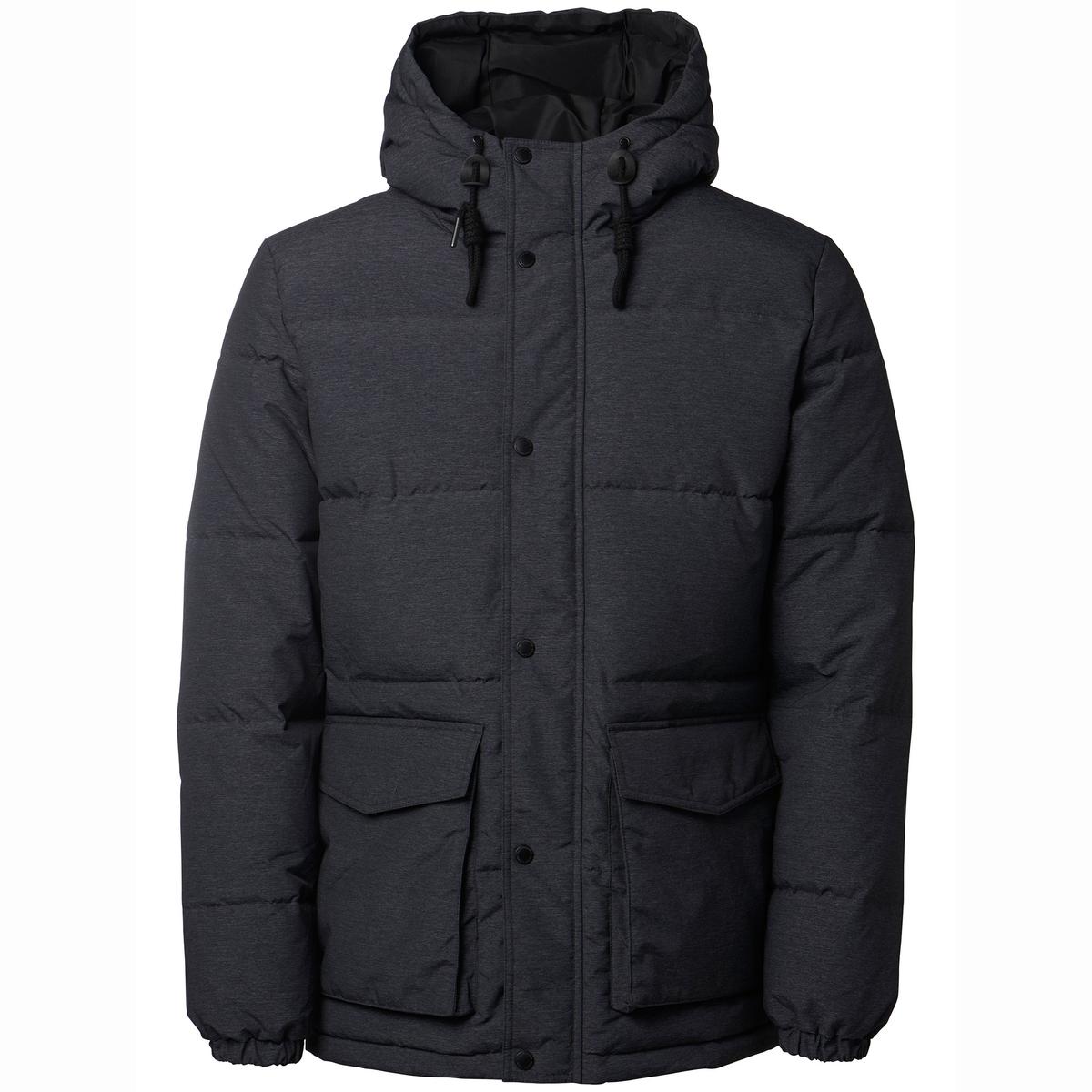 Стеганая куртка с капюшоном NOVOСостав и описание:Материал: 100% полиэстера.Марка: SELECTED HOMME.<br><br>Цвет: серый меланж<br>Размер: XL