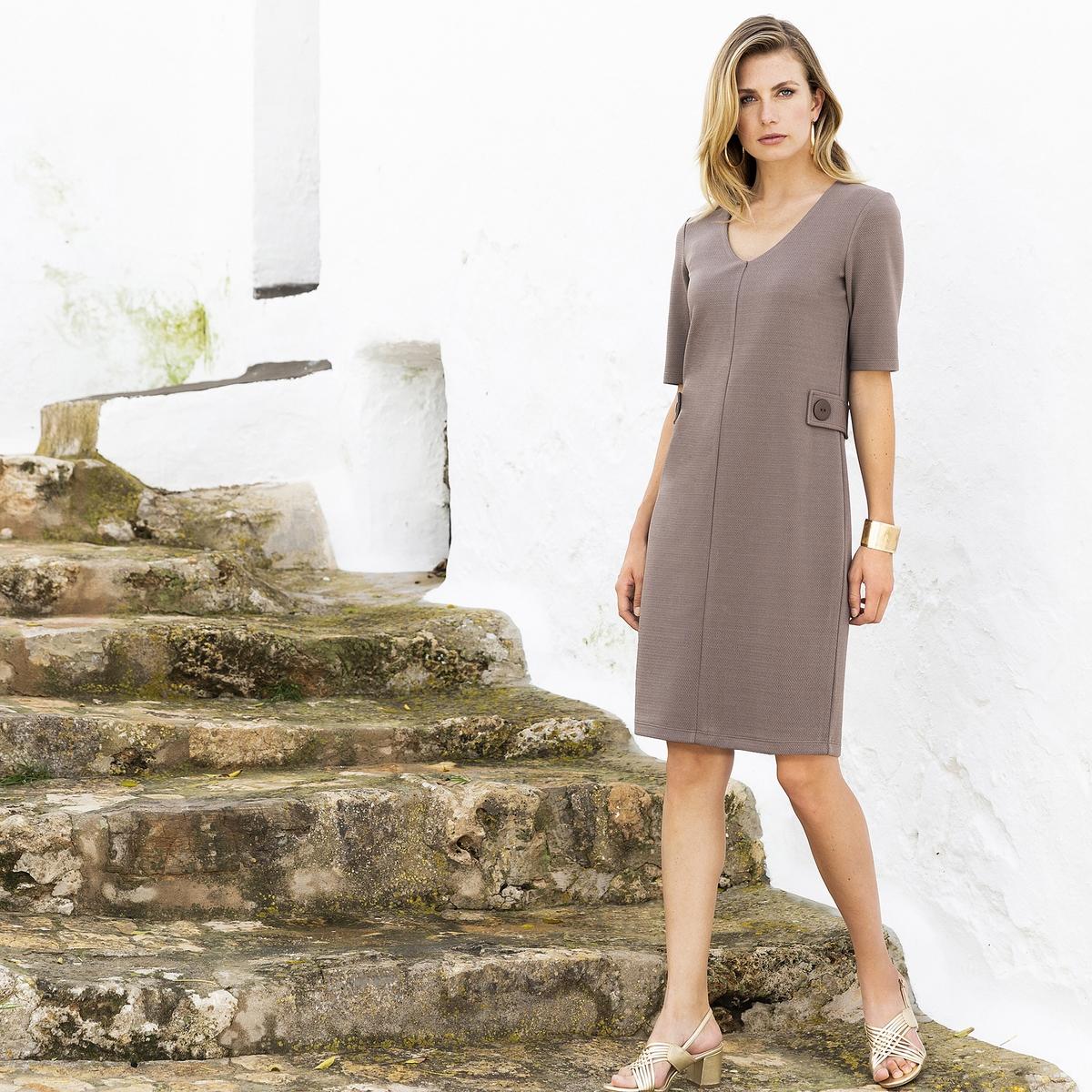 Imagen secundaria de producto de Vestido recto de punto con relieve - Anne weyburn