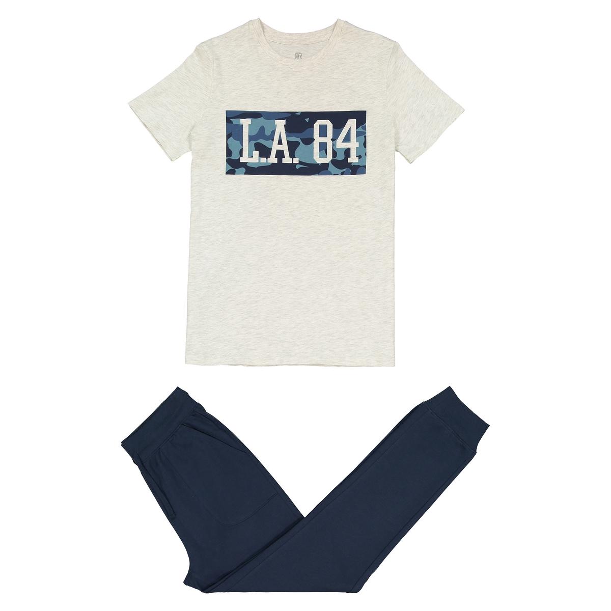 Pijama bimatéria estampado, 10-16 anos