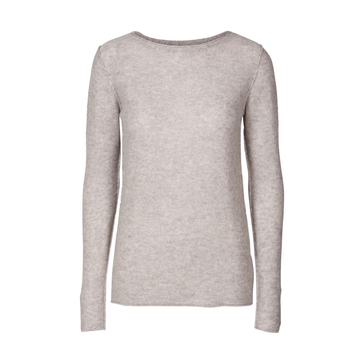 Пуловер из тонкого трикотажа из шерсти и кашемираОписание:Детали •  Длинные рукава •  Круглый вырез •  Тонкий трикотаж Состав и уход •  90% шерсти, 10% кашемира •  Следуйте советам по уходу, указанным на этикетке<br><br>Цвет: серый меланж<br>Размер: S.XS.L