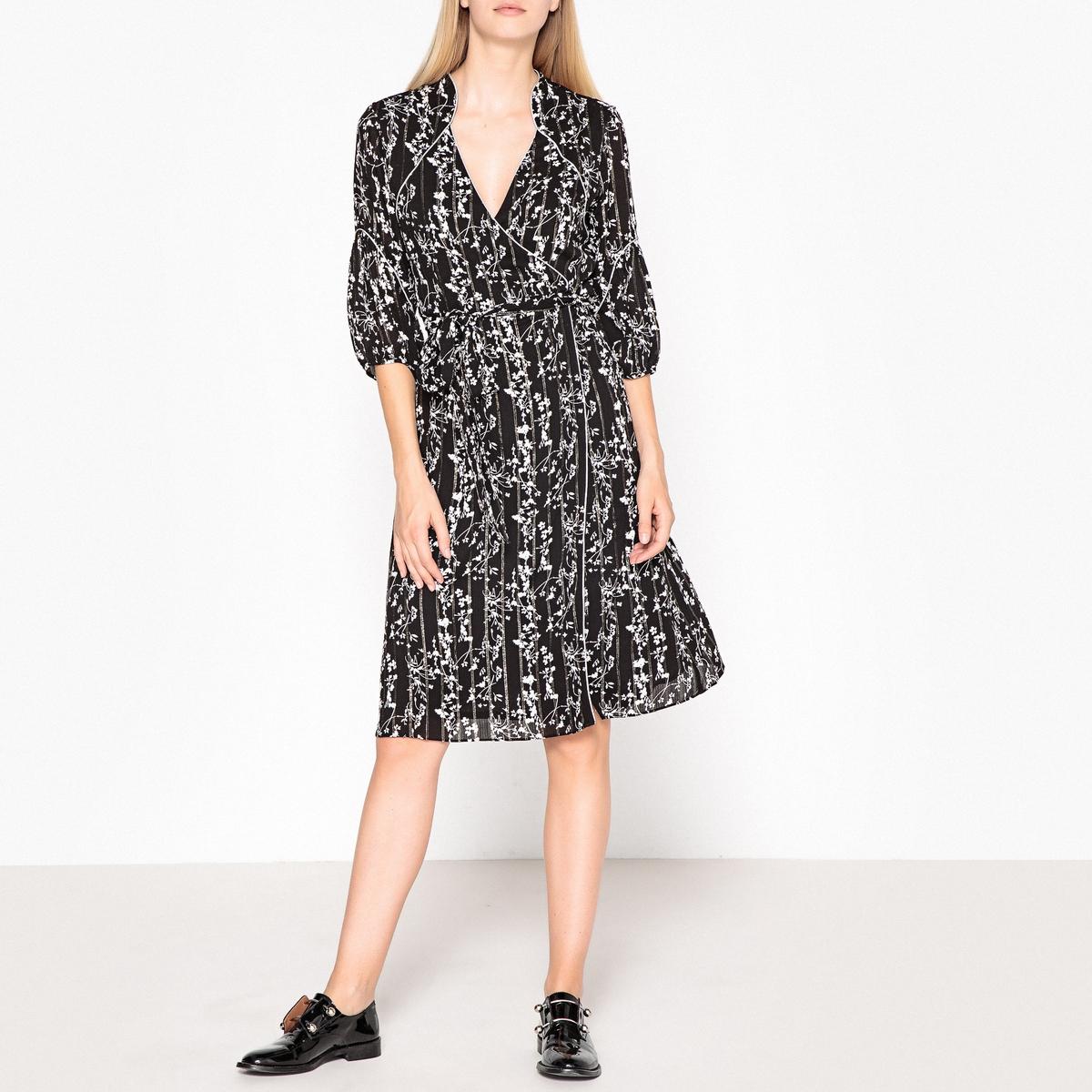 Платье в форме каш-кер с рисунком FOLIA платье футляр с цветочным рисунком