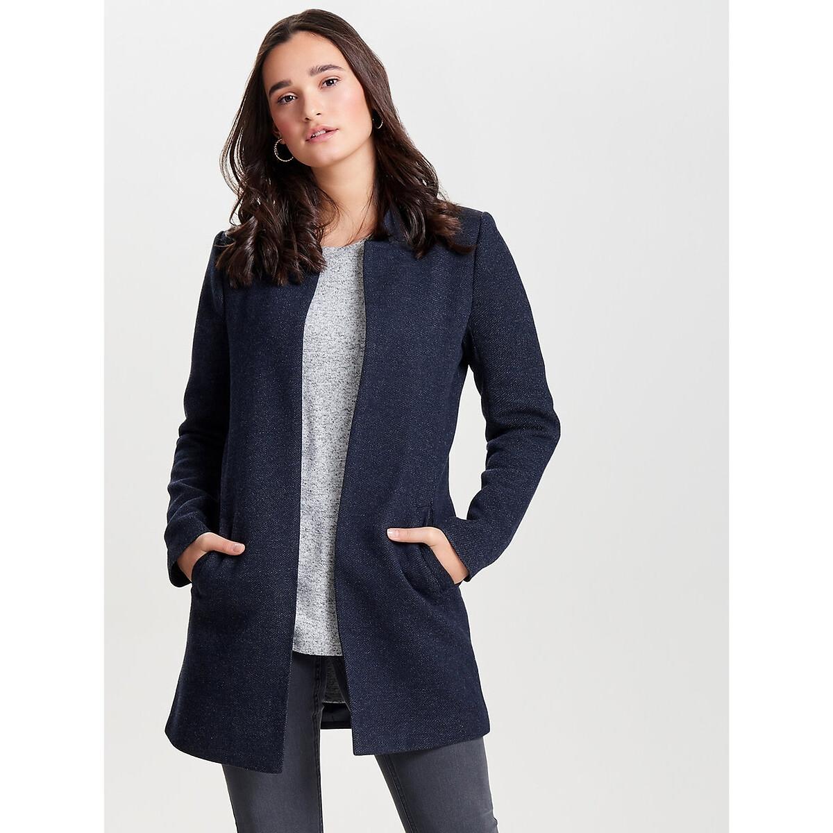 цена Жакет La Redoute Средней длины воротник-стойка XL синий онлайн в 2017 году