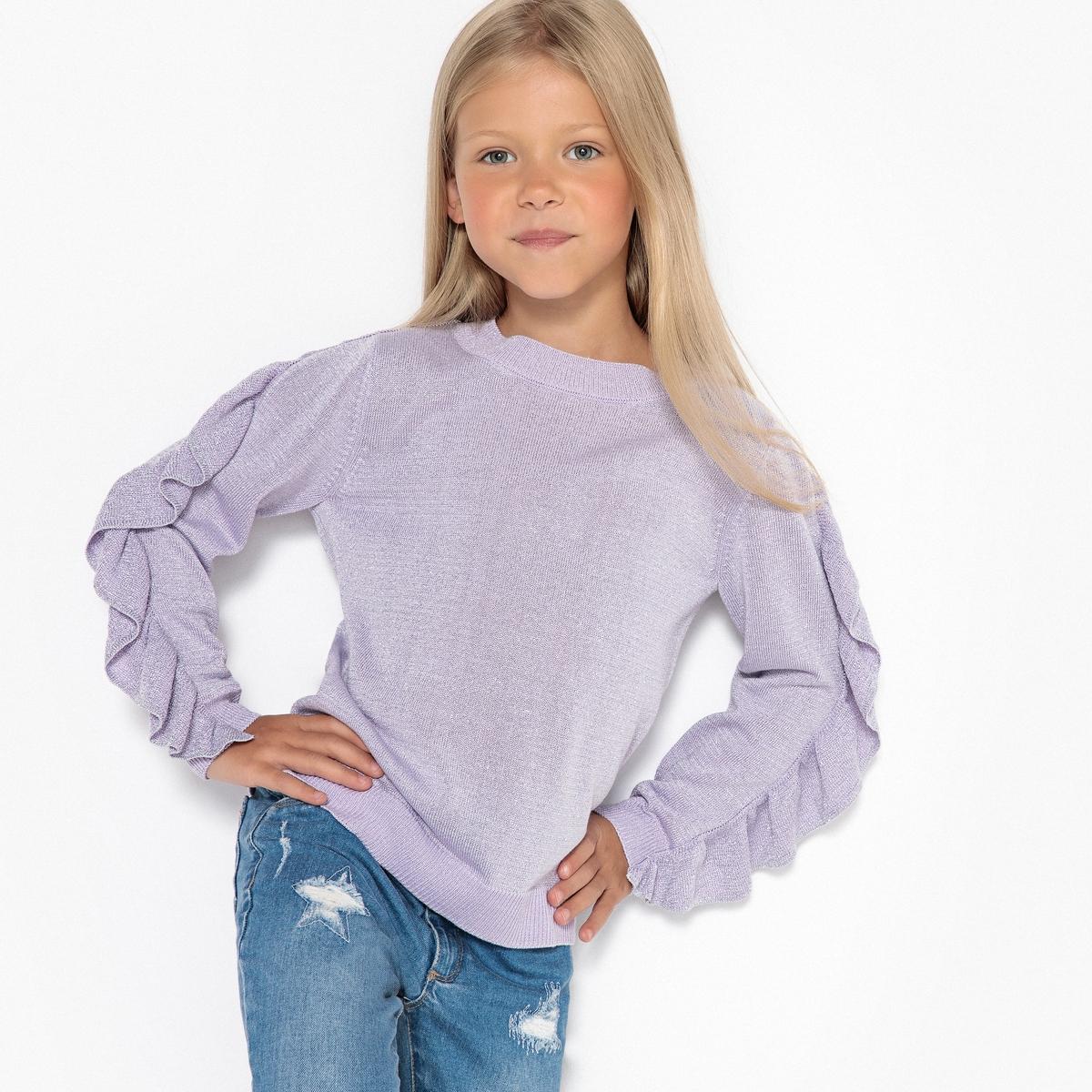 Пуловер La Redoute Из тонкого блестящего трикотажа 12 лет -150 см розовый пуловер из блестящего трикотажа 3 12 лет