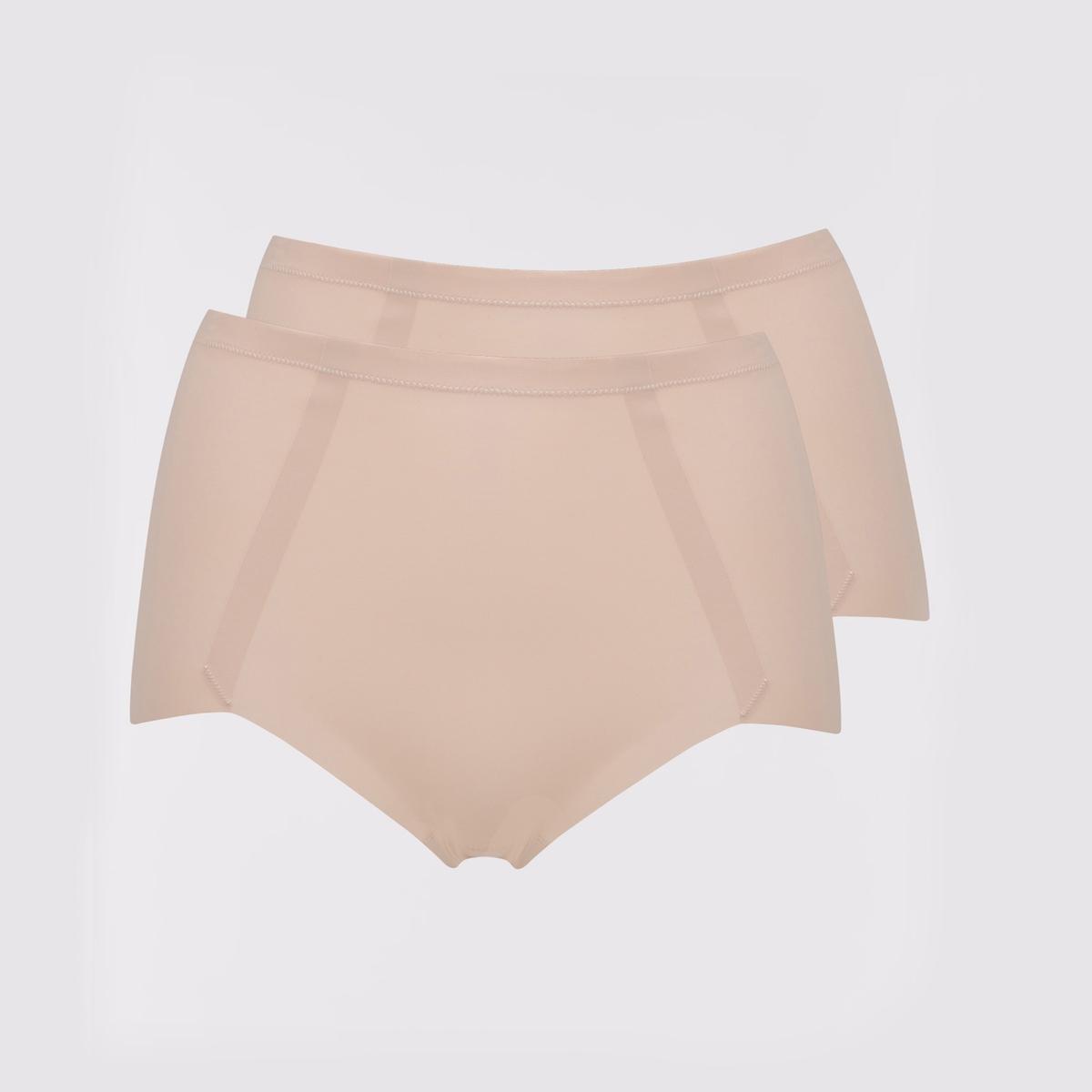 Комплект из 2 трусов незаметных La Redoute Под одеждой с эффектом плоского живота S розовый комплект из 2 трусов для мальчиков