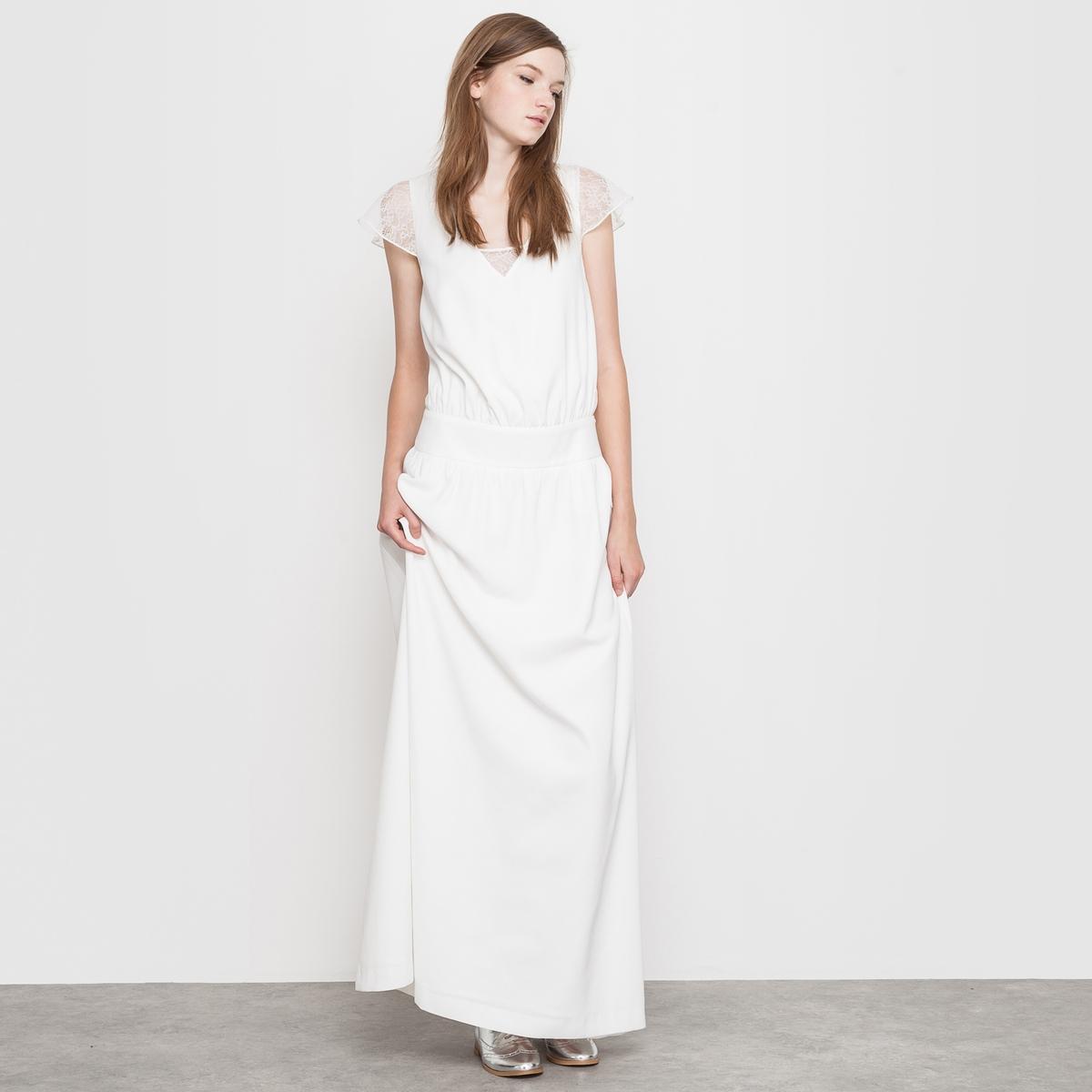 Купить со скидкой Платье длинное свадебное
