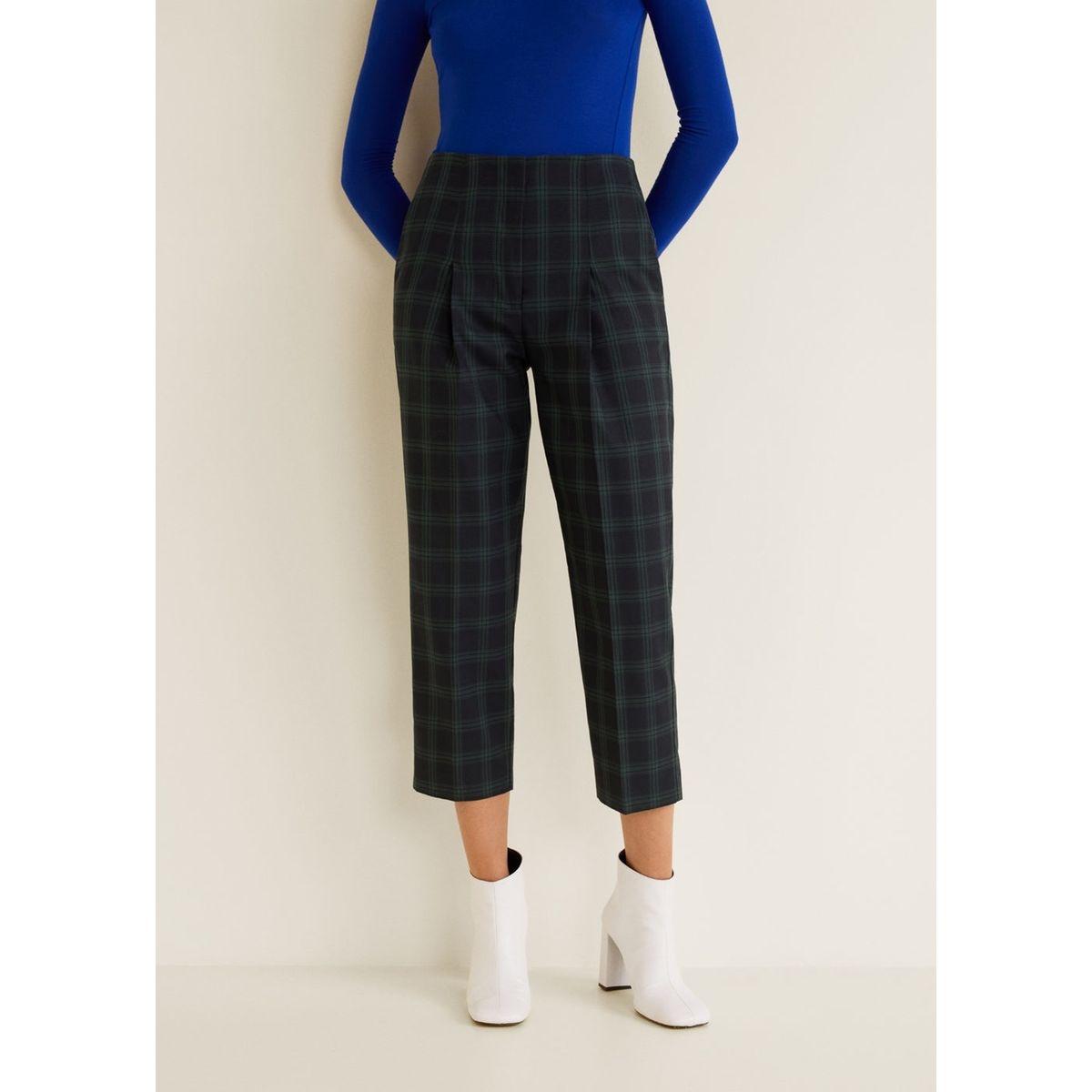 Pantalon coton à carreaux