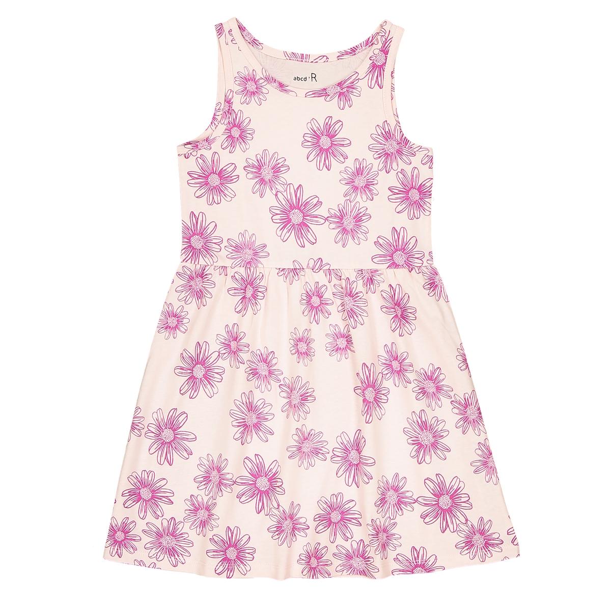 Платье с цветочным принтом  3-12 лет
