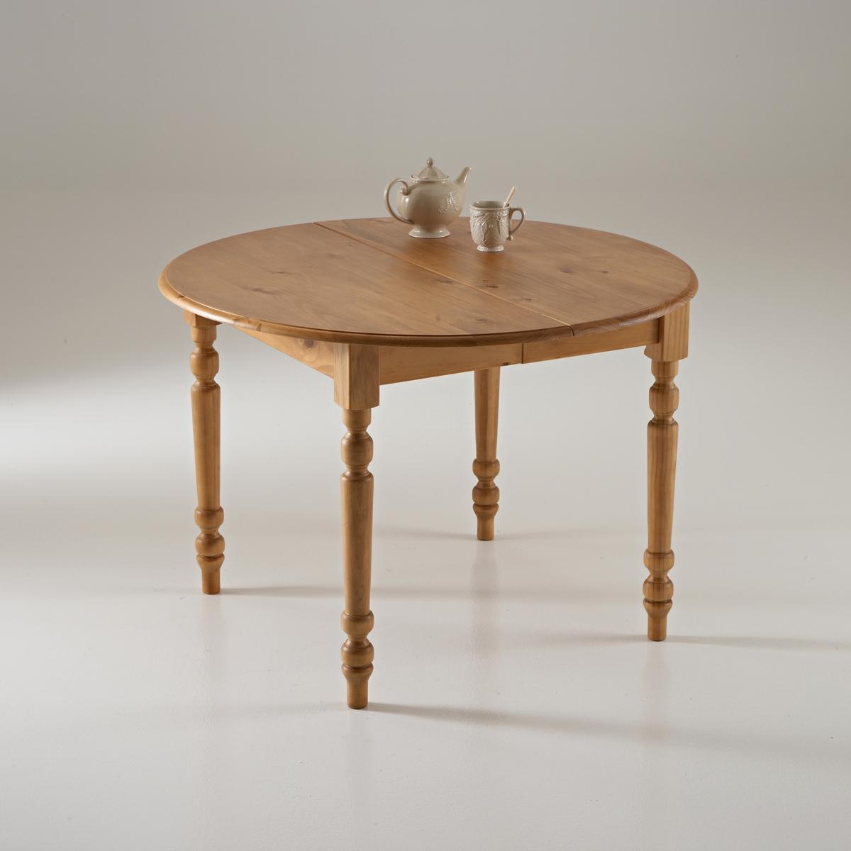 Стол круглый из массива сосны, Authentic Style