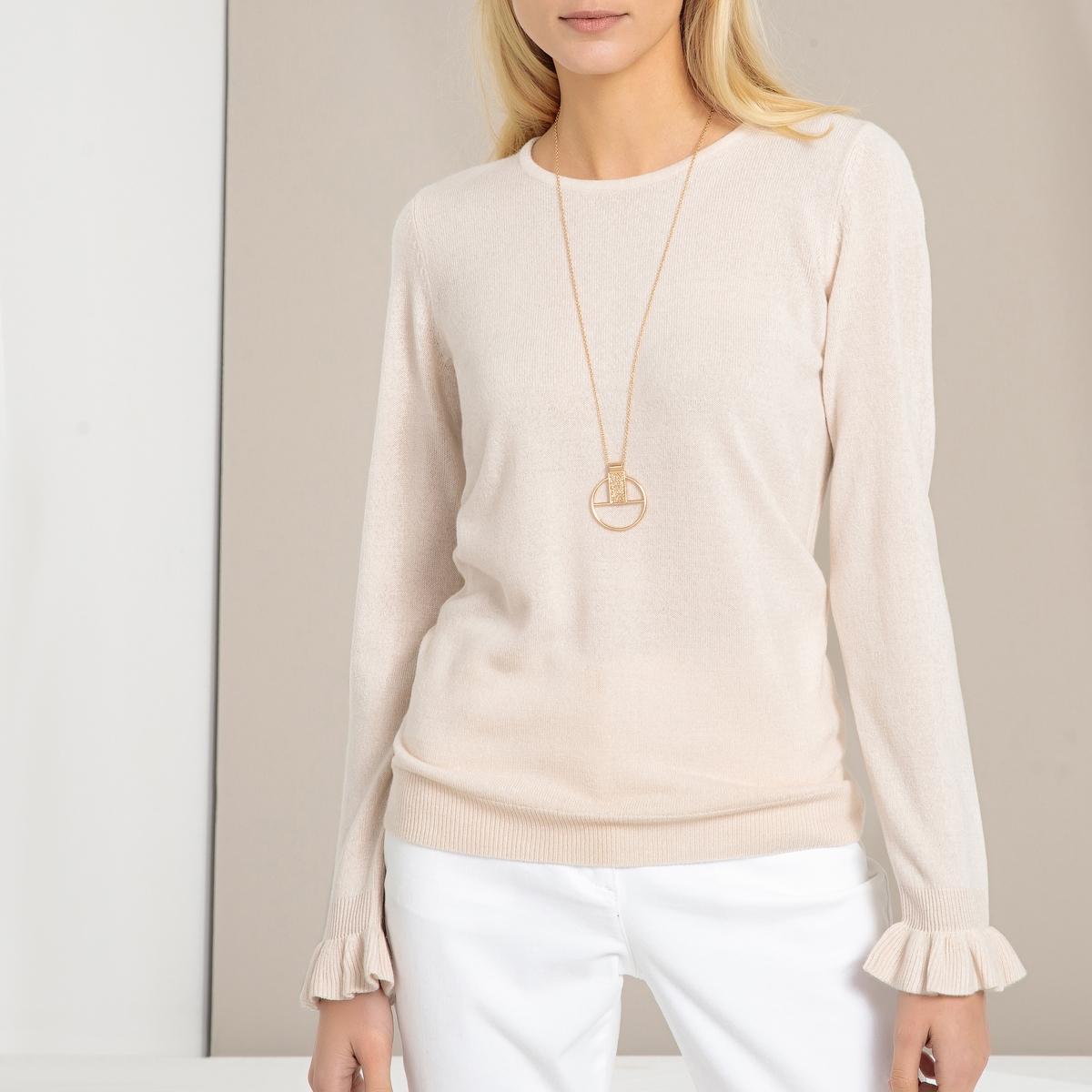 Pullover mit Rundhalsausschnitt  Feinstrick   Bekleidung > Pullover > Rundhalspullover   Kaschmir - Polyacryl   ANNE WEYBURN