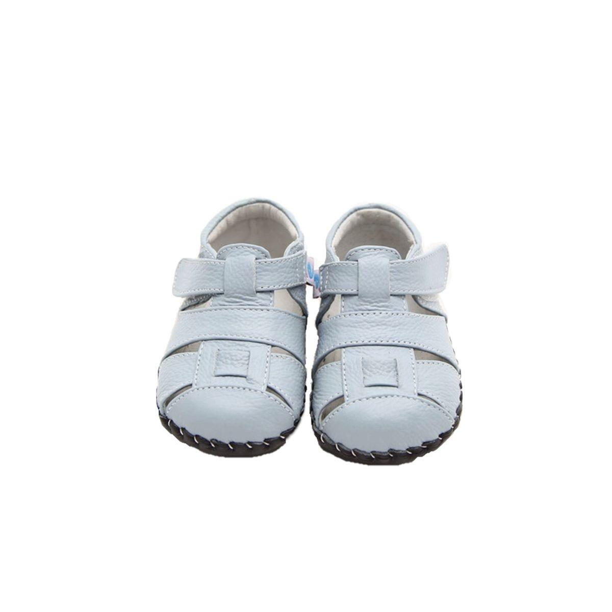 Chaussures premiers pas cuir souple sandales fermées OCEAN