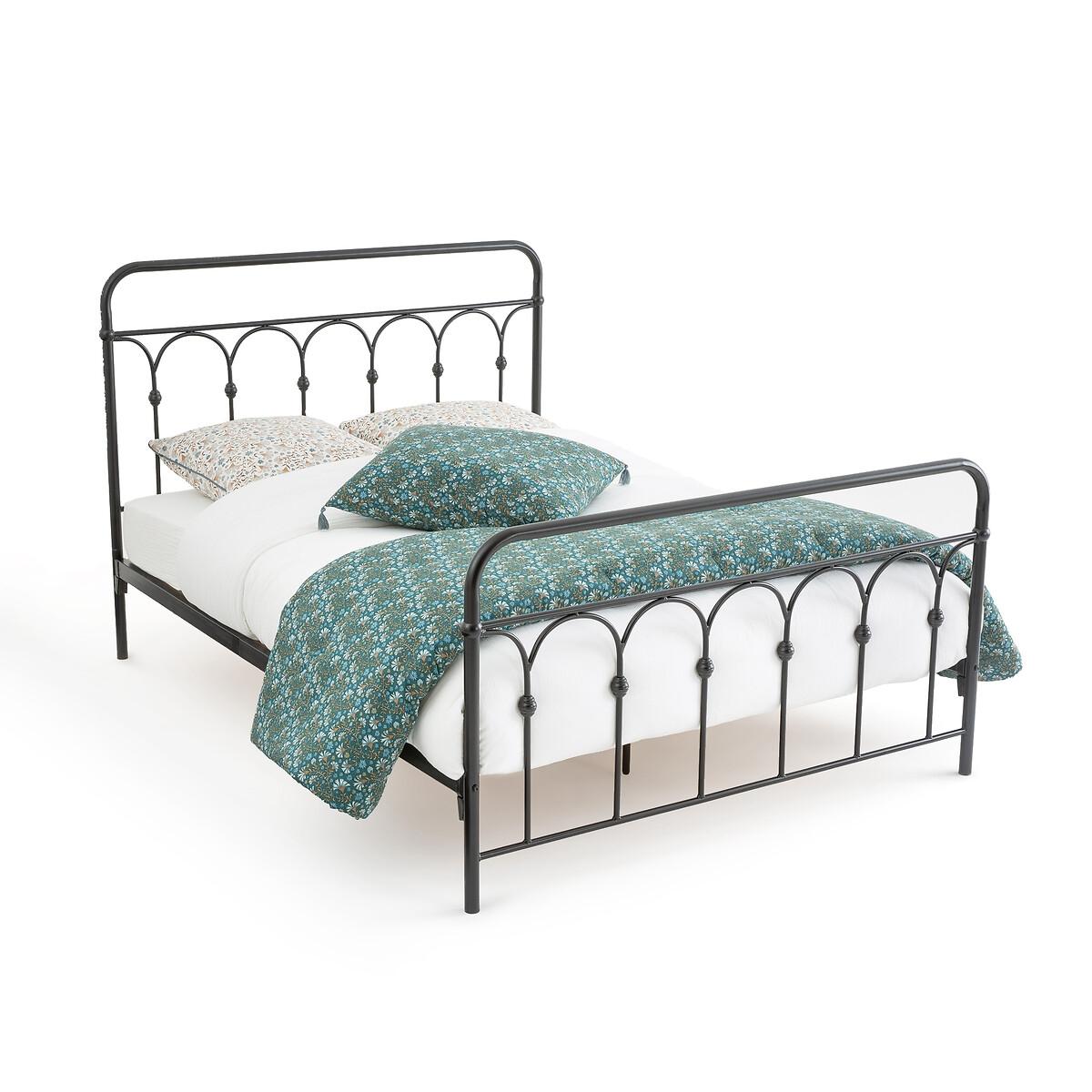 Кровать LaRedoute Из металла Clarel 160 x 200 см черный