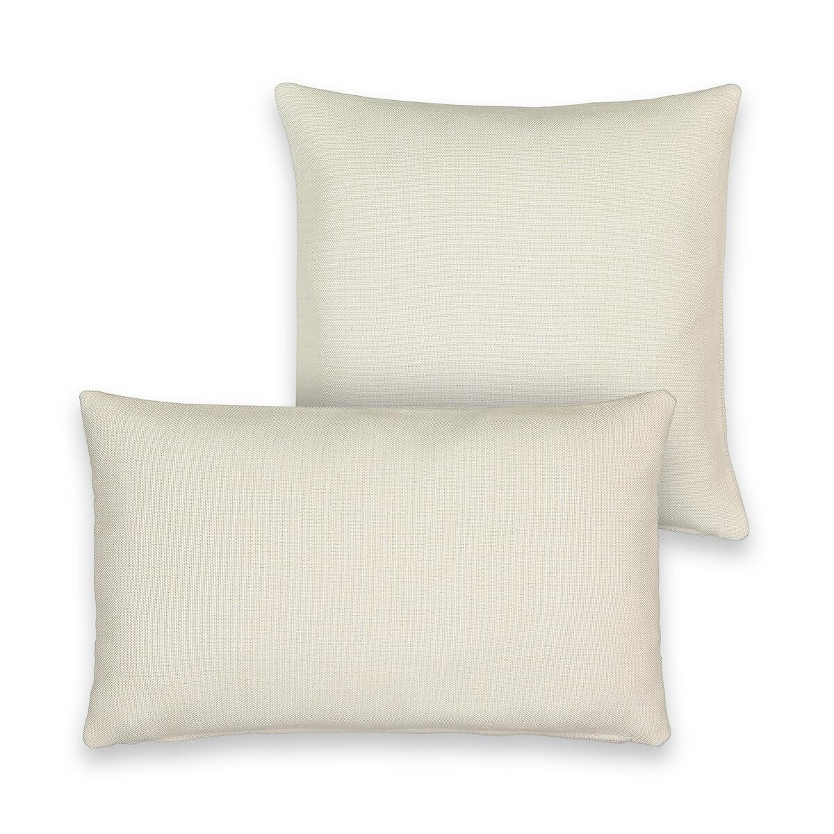 Чехол LaRedoute На подушку из 100 полиэстера Exurie 50 x 30 см белый