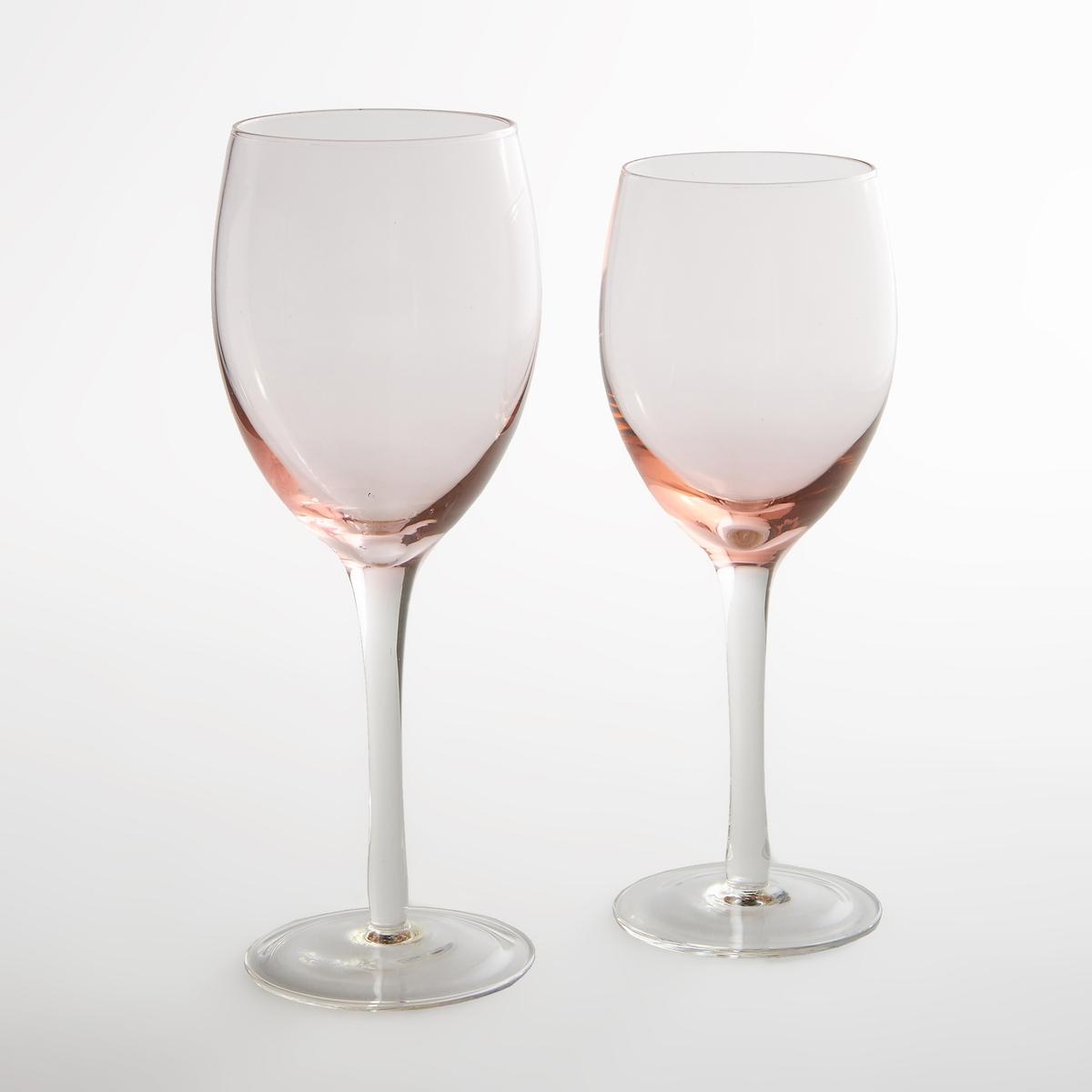 4 бокала для винаКомплект из 4 прозрачных бокалов для вина La redoute Int?rieurs. Темно-розовый эффект внизу в современном дизайне .Характеристики 4 бокалов :- Бокалы для вина из прозрачного стекла с розовым затемнением снизу  Подходят для использования в посудомоечной машинеПродаются комплектом из 4 шт Размеры :Диаметр : 6,6 смВысота : 20 см<br><br>Цвет: дымчато-розовый