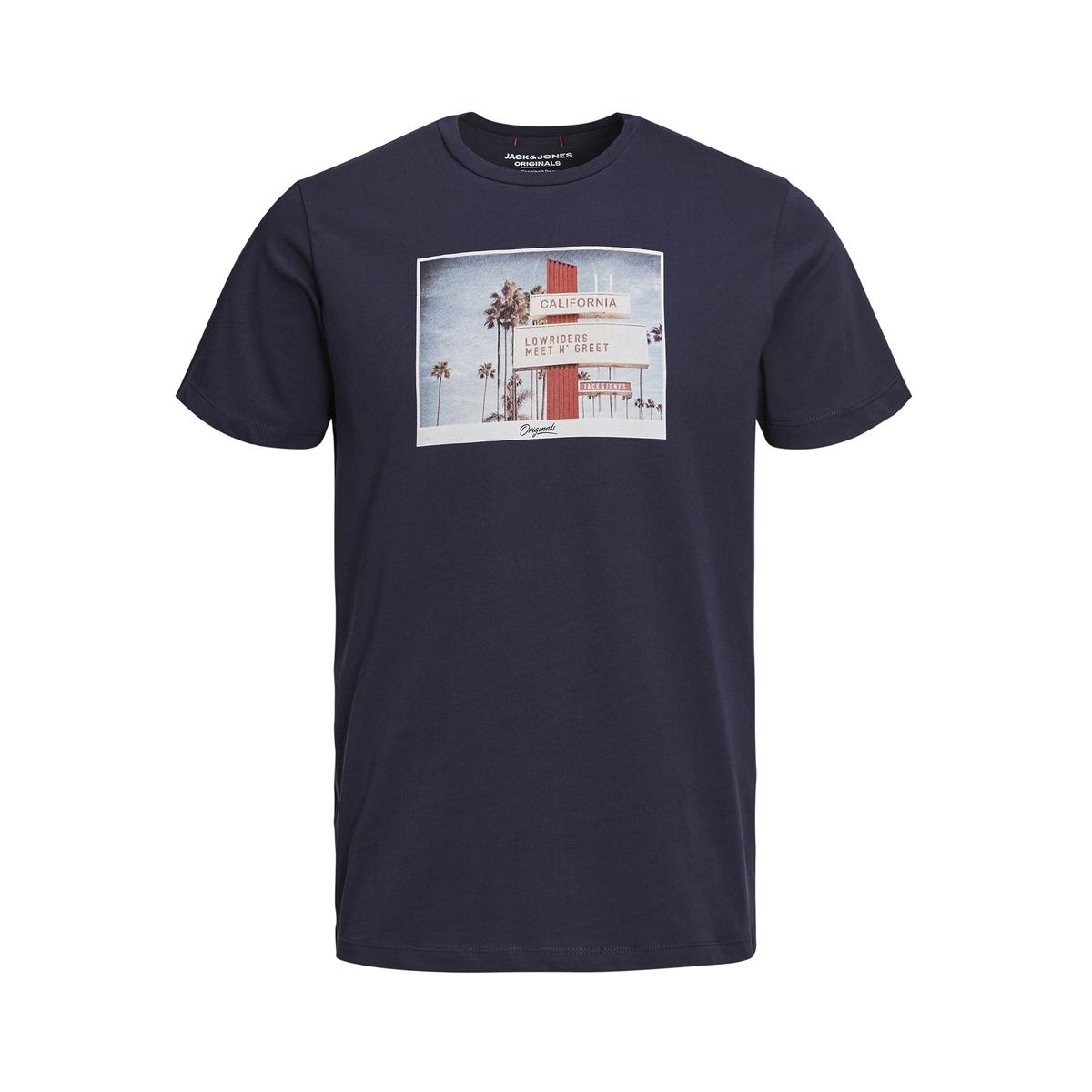 Футболка La Redoute С рисунком спереди 12 лет -150 см синий футболка la redoute с рисунком 12 лет 150 см синий