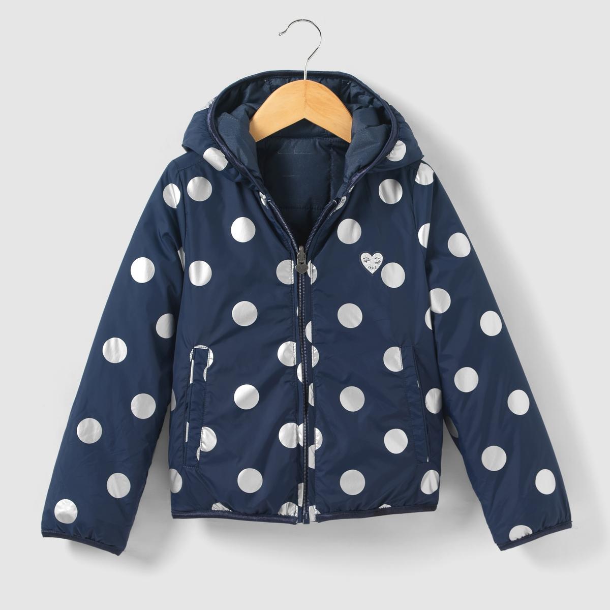 Куртка стеганая двухсторонняя с капюшоном 3-14 лет