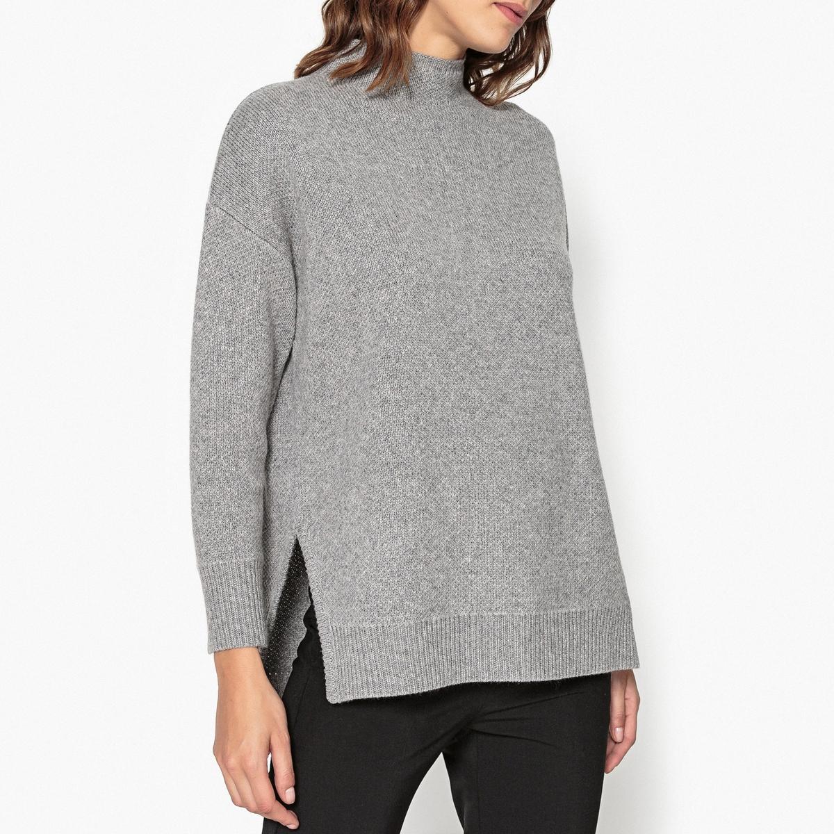 Пуловер из шерсти и кашемира с разрезами LEON