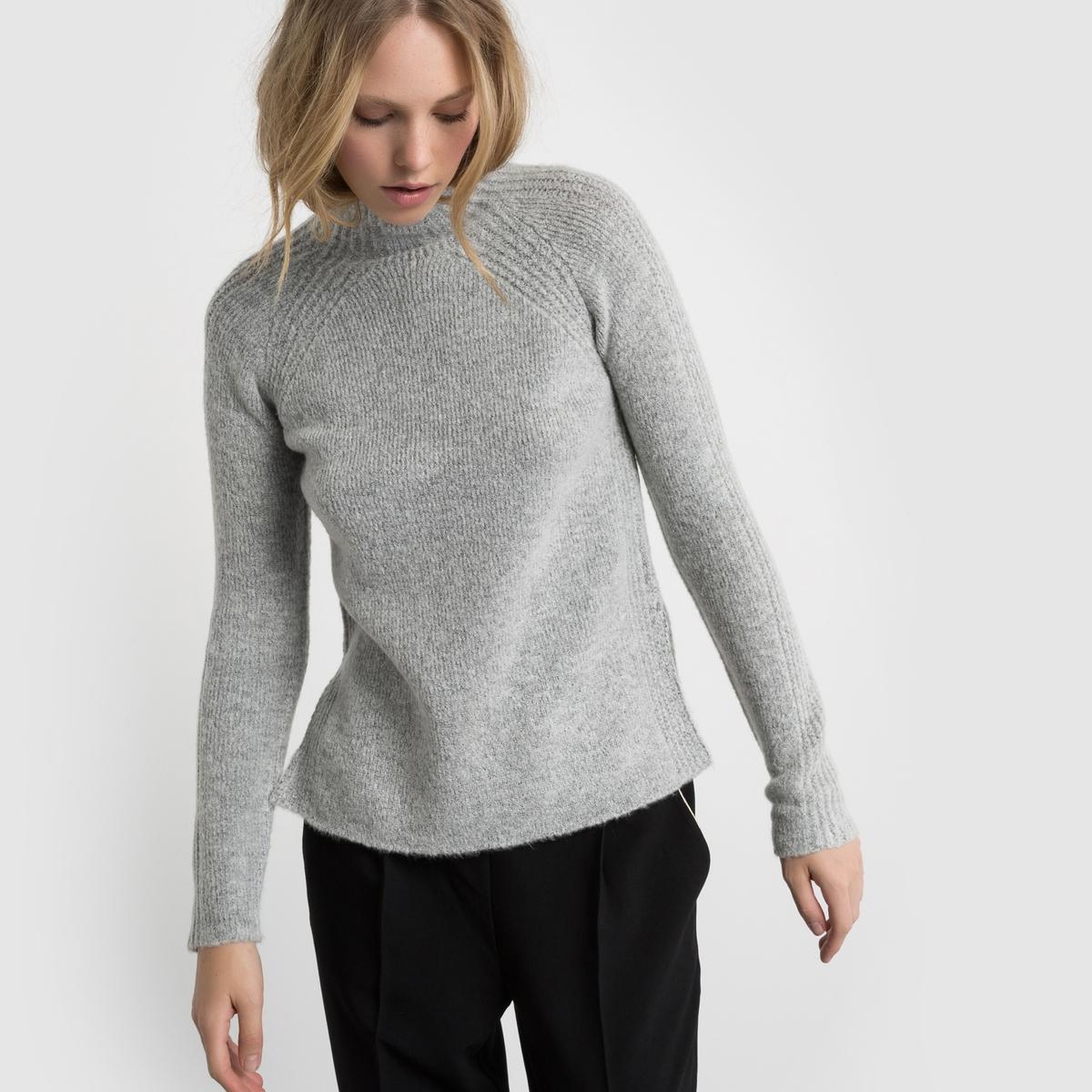 Пуловер с воротником-стойкой