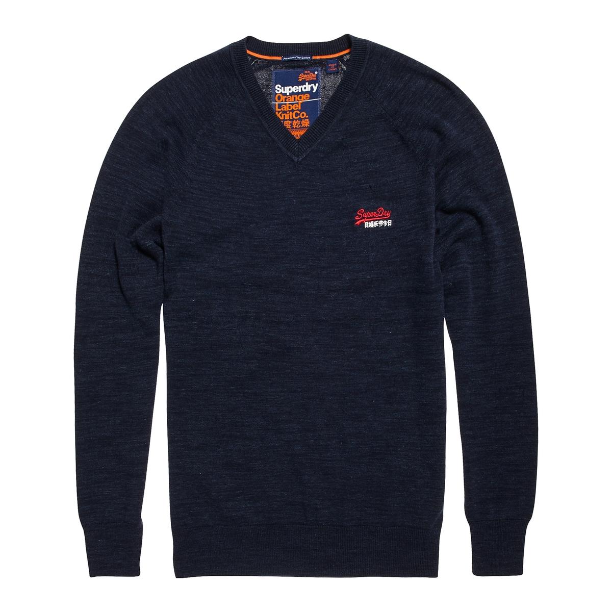 Bawełniany sweter z dekoltem w V ORANGE LABEL