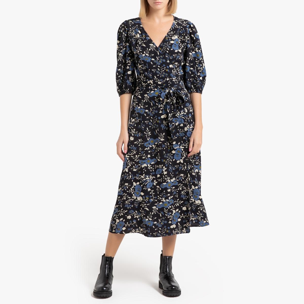 Платье La Redoute Длинное с запахом и рукавами MAUD M черный виолетта лосева монетизация нежности