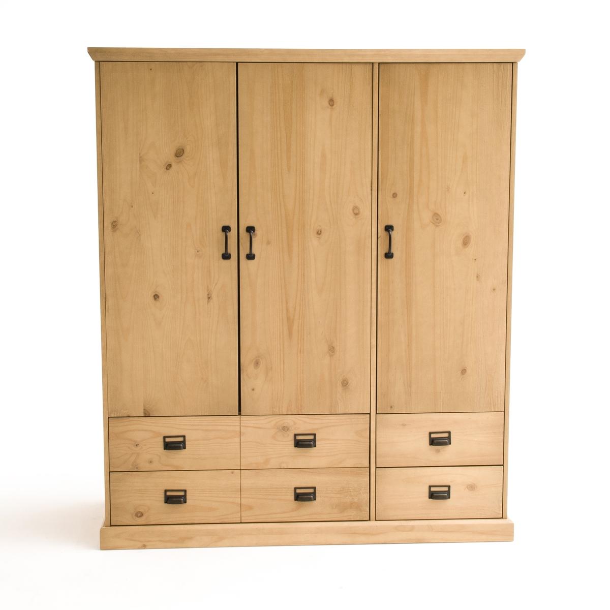 Шкаф Lindley, 3 дверки, 4 ящика, 2/3 вешалки, 1/3 белье 3m 05744 hookit 2 3 4 x 16 1 2 hand file board