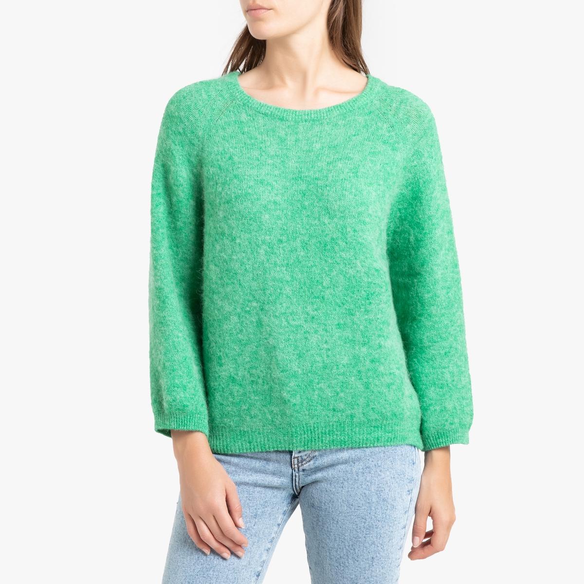 Пуловер La Redoute С вырезом-лодочка WOXILEN M/L зеленый футболка la redoute с вырезом лодочка и длинными рукавами l зеленый