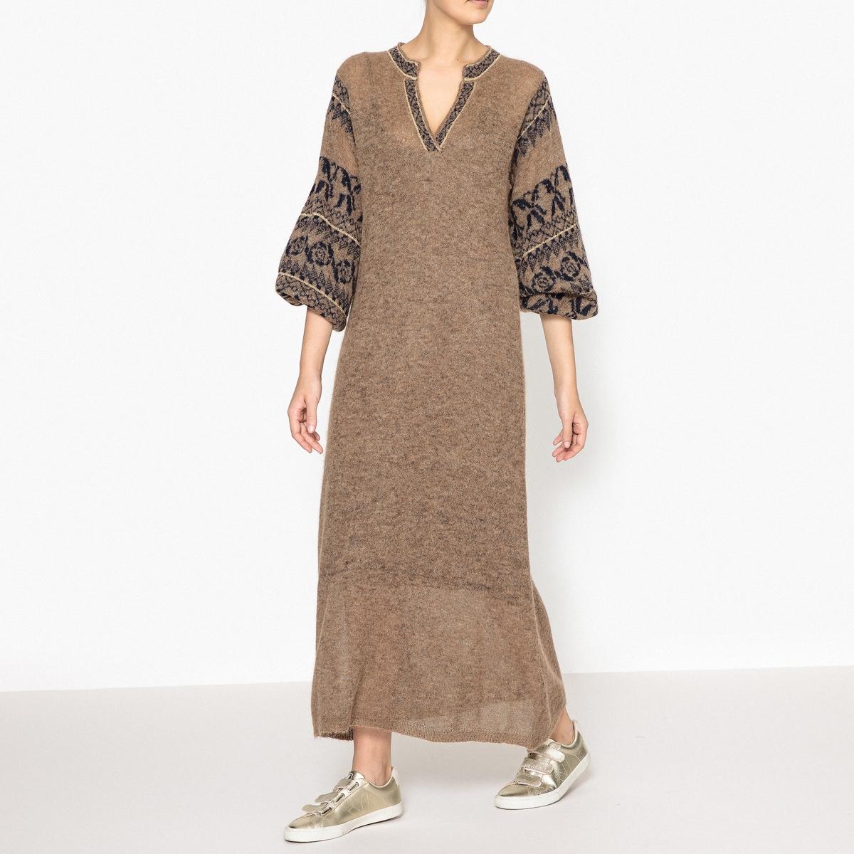 Платье длинное из трикотажа ROKSANA