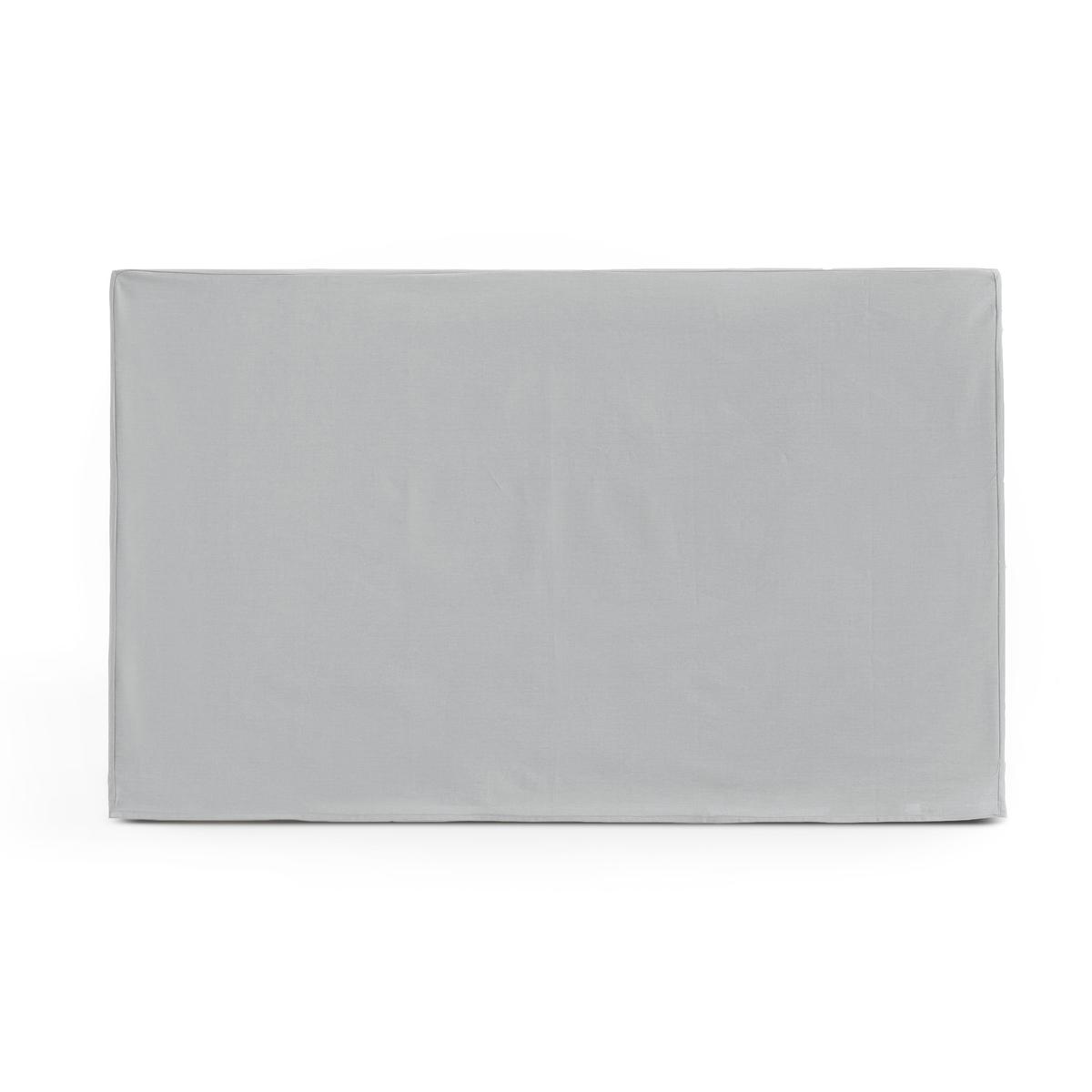 Чехол LaRedoute Для изголовья кровати прямоугольной формы из хлопка SCENARIO 90 x 85 см серый
