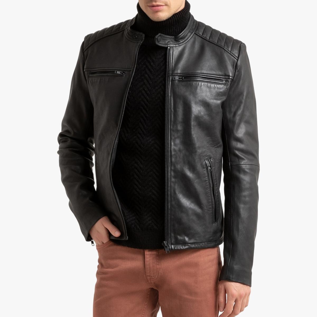 Блузон La Redoute Кожаный в байкерском стиле XS черный блузон la redoute в байкерском стиле ozone s черный