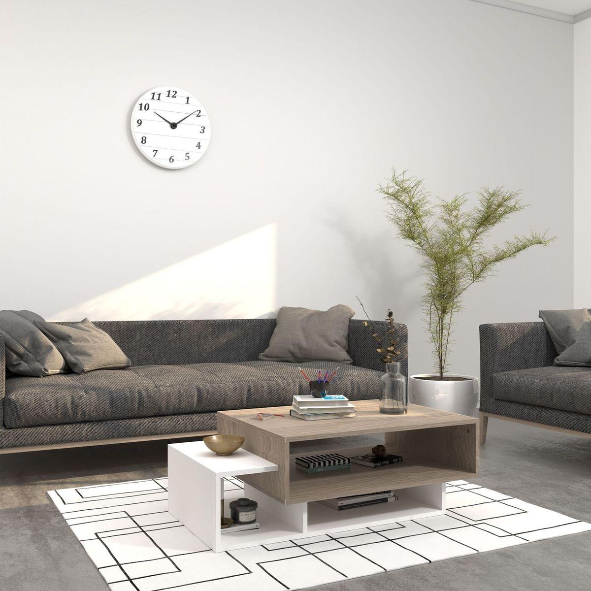 Table basse design Germini - L. 100 x H. 35 cm