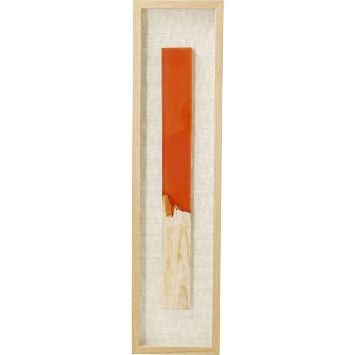 Tableau Match allumette orange 120x30cm Kare Design