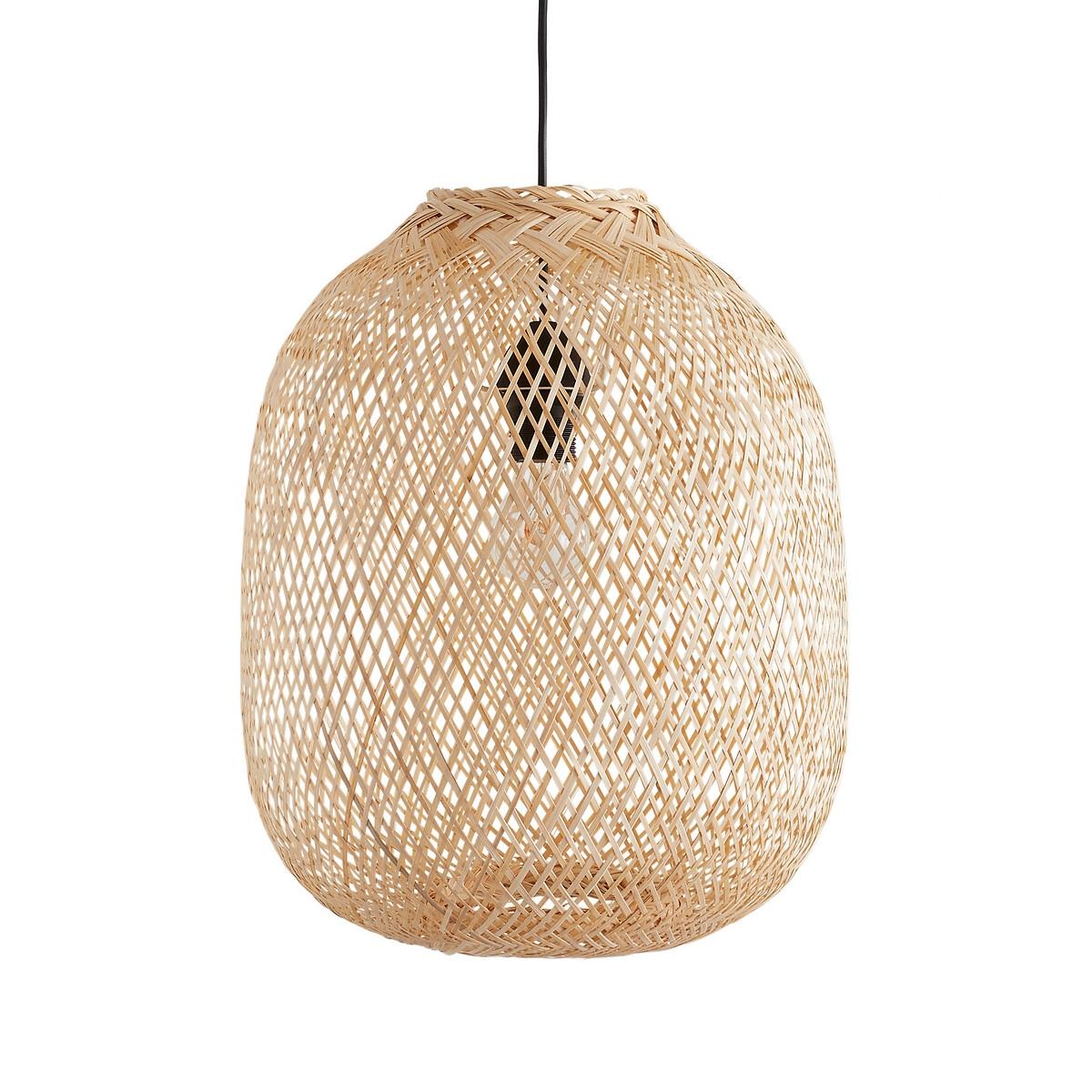 Светильник LaRedoute Круглый из бамбука 40 см Ezia единый размер бежевый салатница laredoute двухцветная из бамбука briama единый размер бежевый