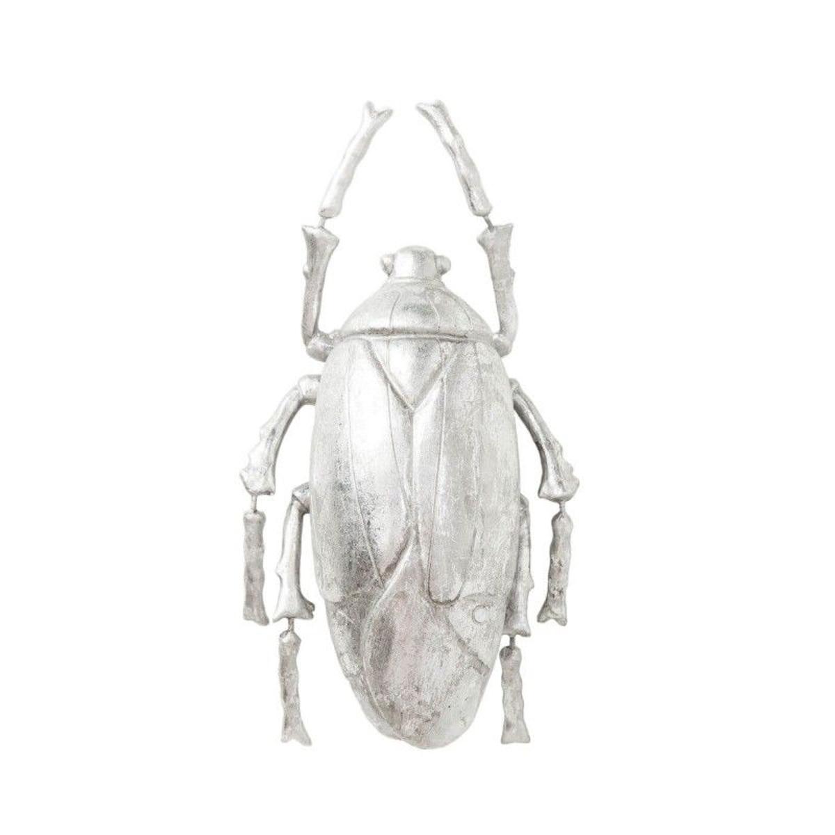 Déco murale Plant Beetle argentée Kare Design