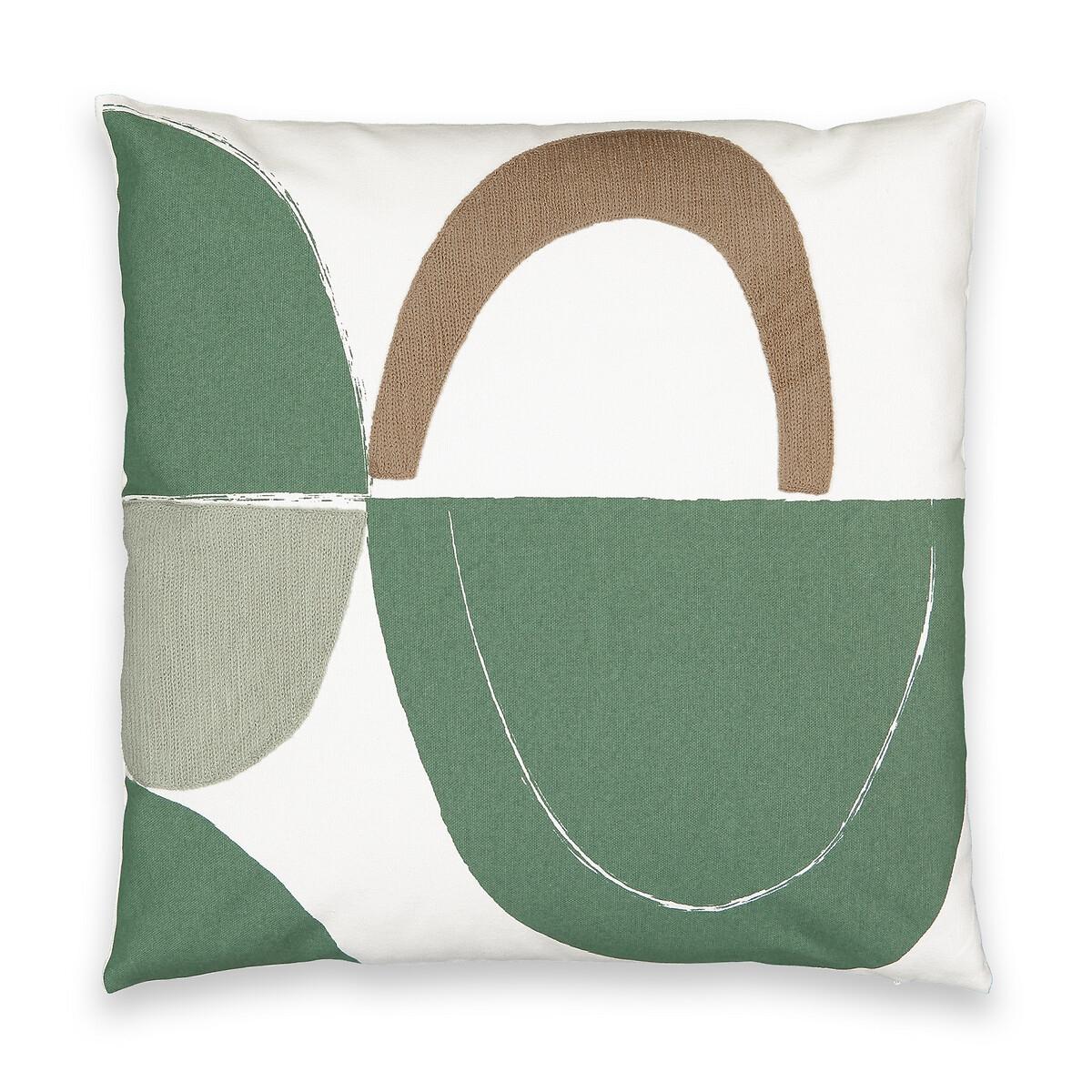 Чехол LaRedoute Для подушки Comoe 50 x 50 см зеленый