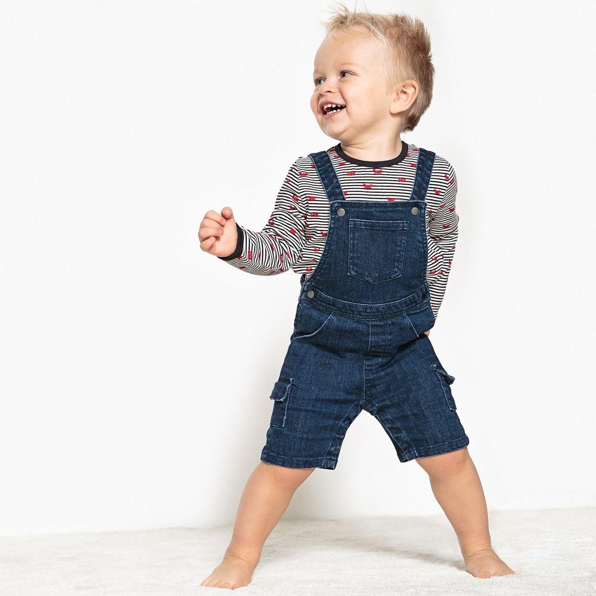 Salopette en jean 1 mois - 3 ans