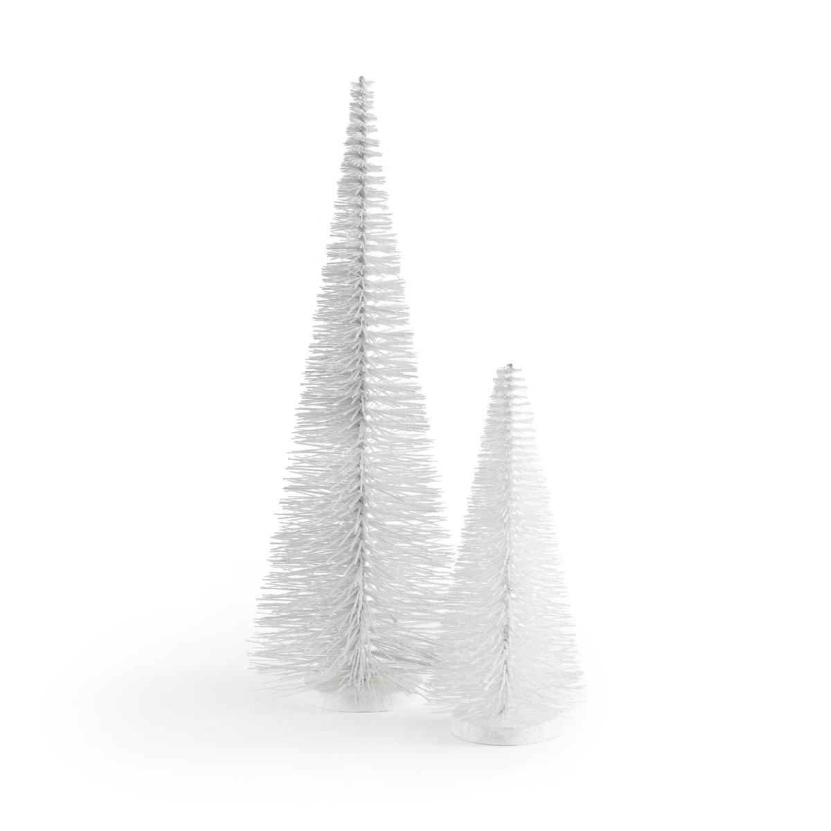 цена на Набор La Redoute Из декоративных новогодних елок Caspar единый размер белый