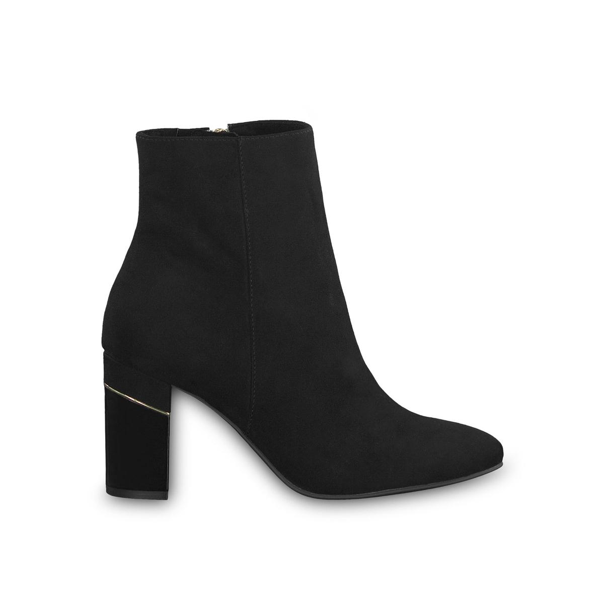 цена Ботильоны La Redoute На каблуке Francesca 40 черный онлайн в 2017 году