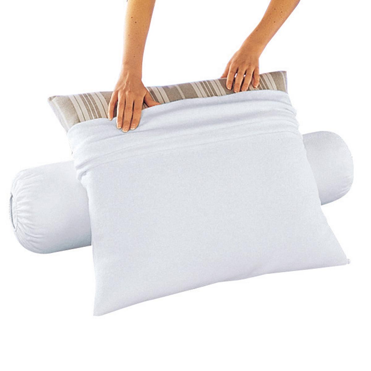Чехол защитный на подушку-валик из мольтона с обработкой против клещей