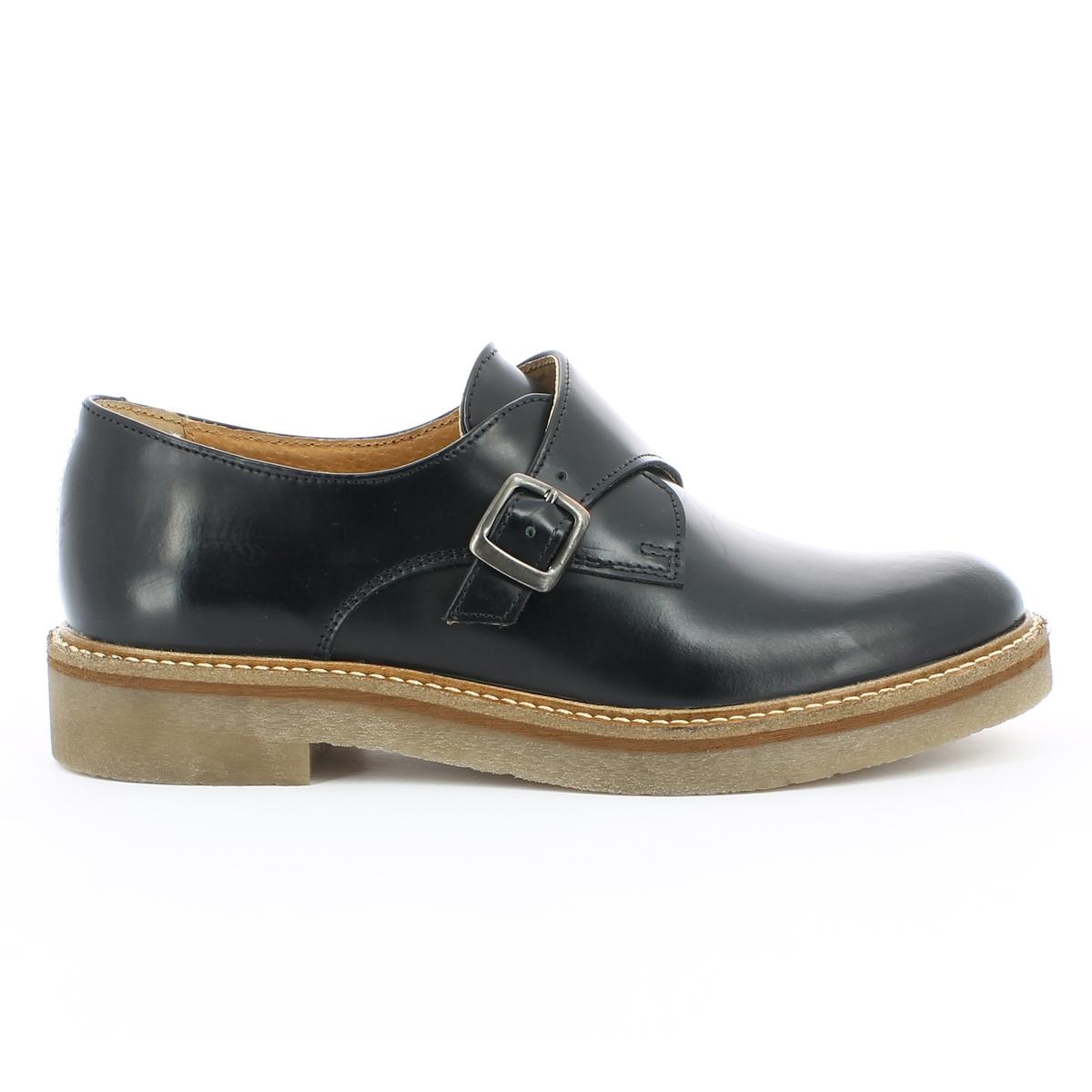 Ботинки-дерби кожаные с пряжкой цены онлайн