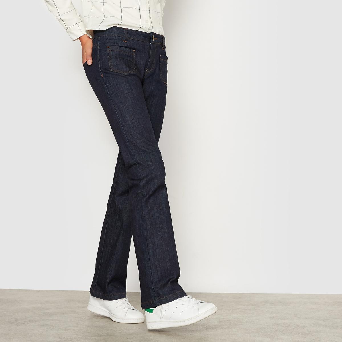 Джинсы расклешенные на 10-16 лет джинсы расклешенные длина 34