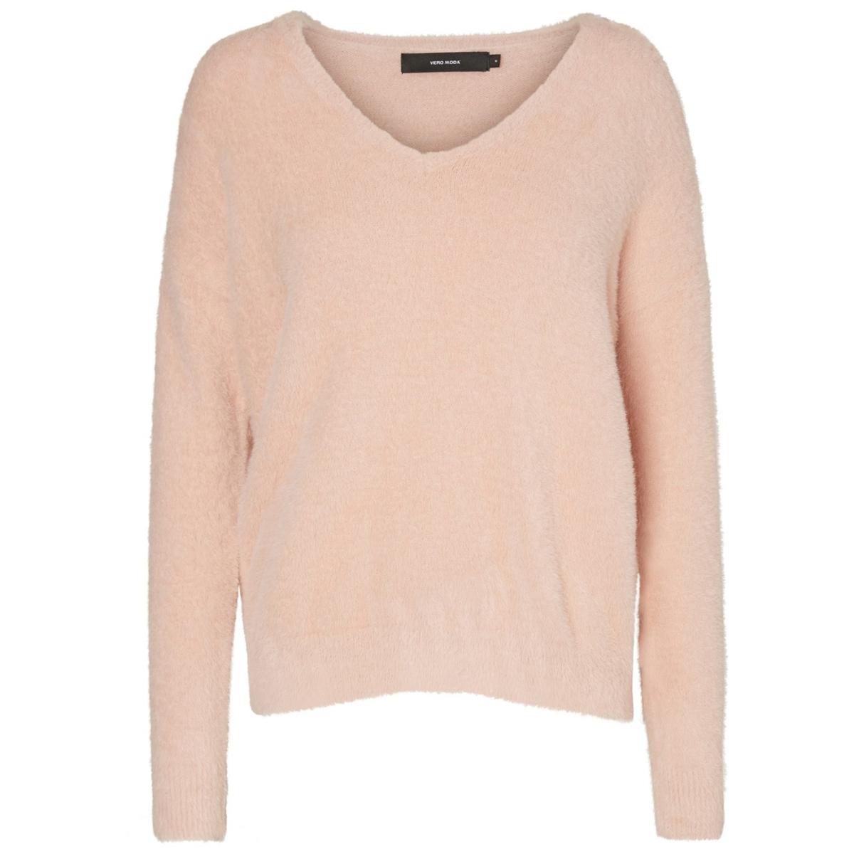 Пуловер с V-образным вырезом из тонкого трикотажа трикотаж other v ro moda