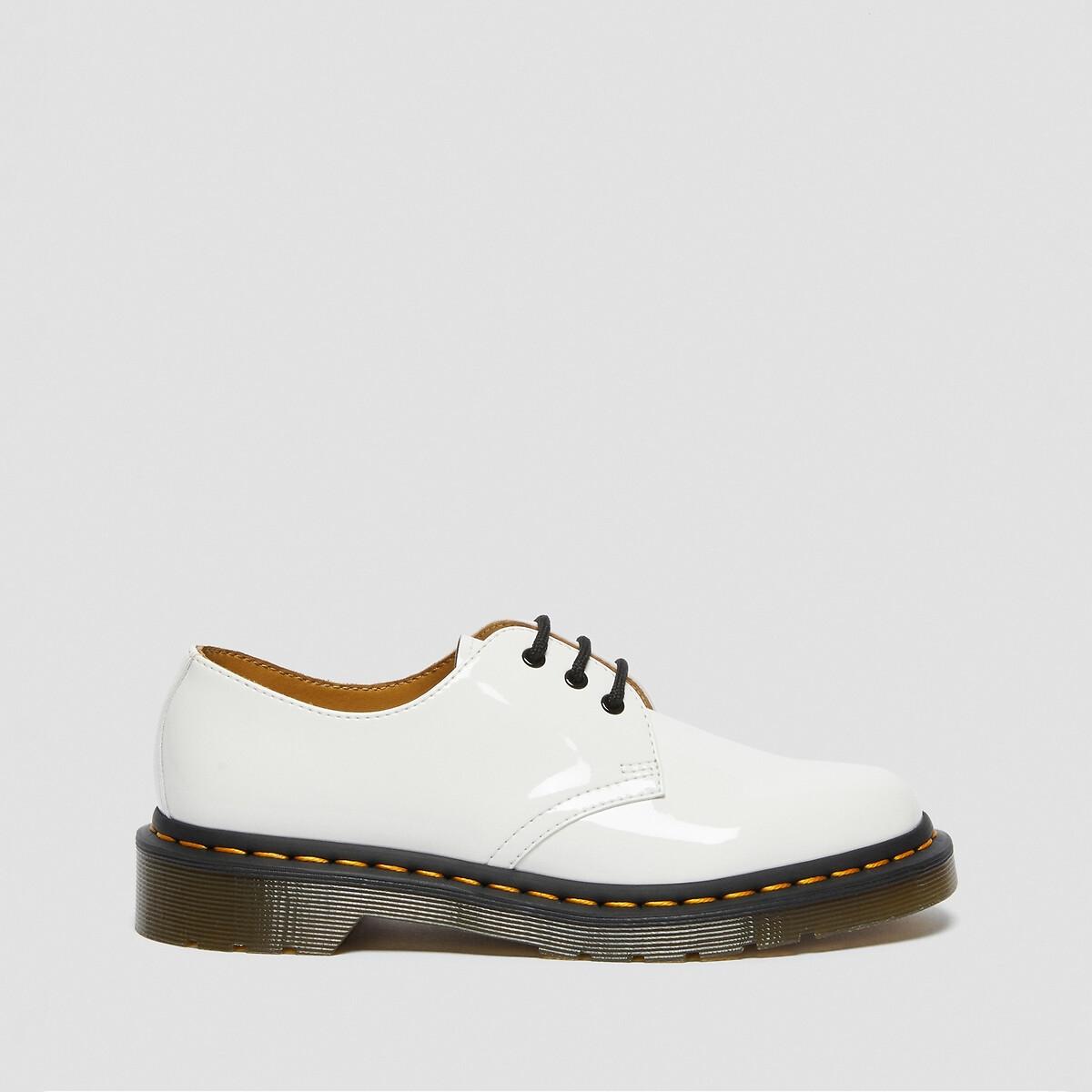 Ботинки-дерби LaRedoute Из лакированной кожи на шнуровке 41 белый ботинки дерби из кожи teadale maira
