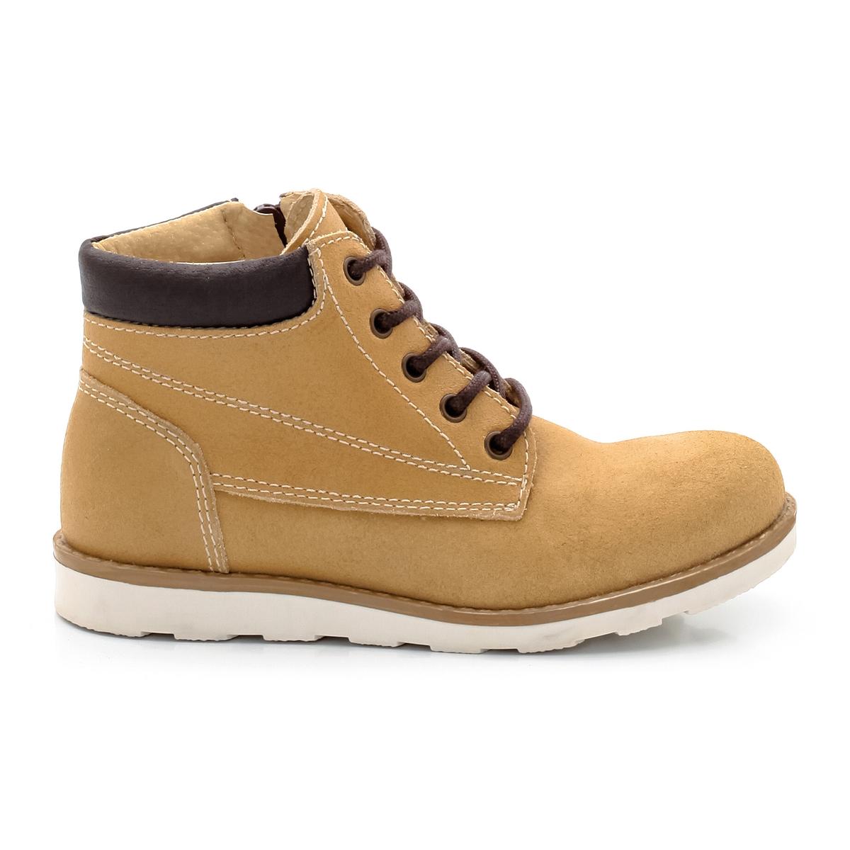 Ботинки из яловичного спилка ботинки из спилка