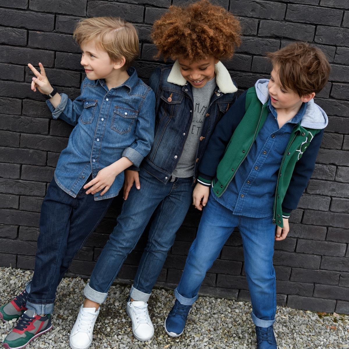 Куртка джинсовая на подкладке, 3-12 лет