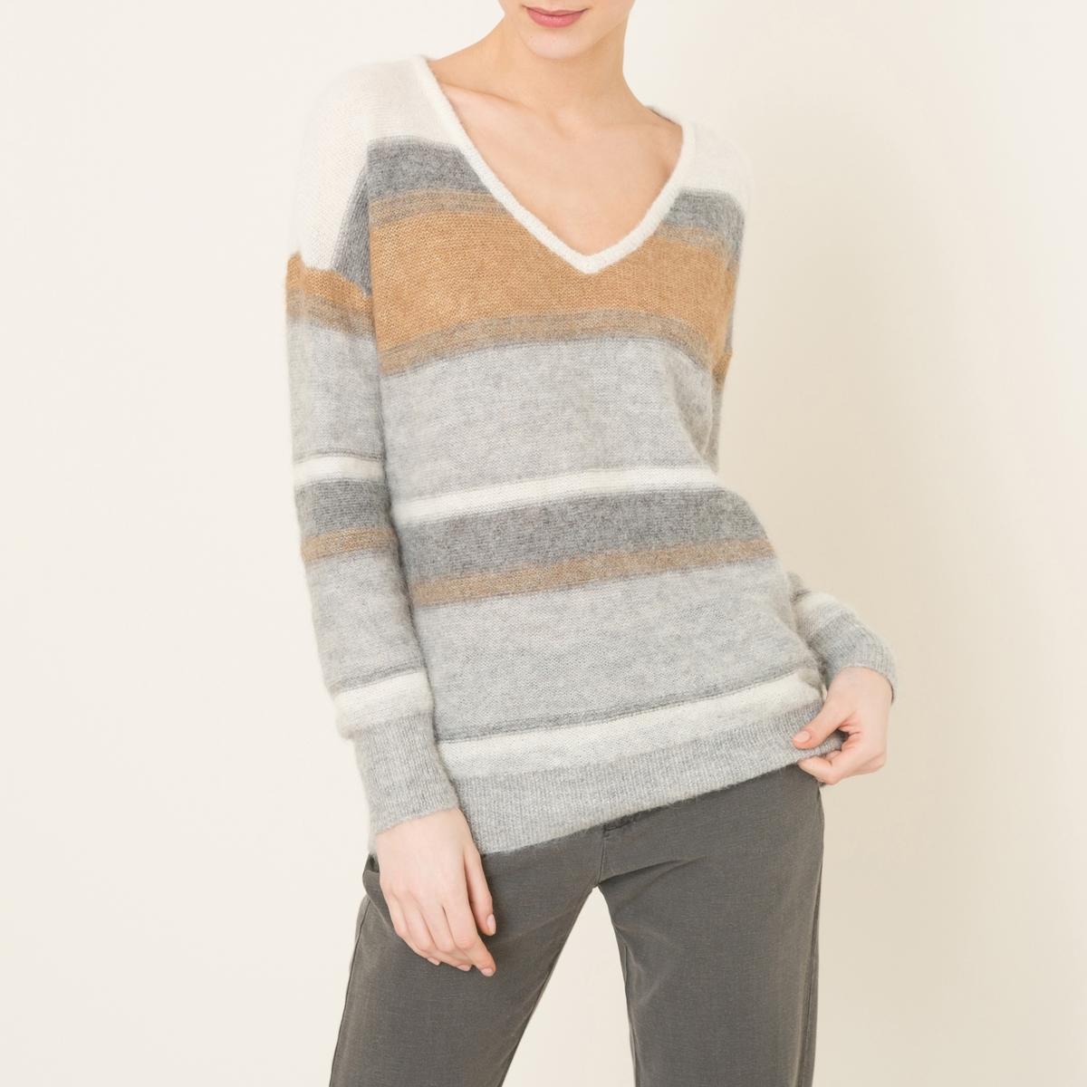 Пуловер ADANAСостав и описание    Материал : 55% шерсти детенышей альпак, 45% полиамида   Марка : HARRIS WILSON<br><br>Цвет: серый<br>Размер: 3(L)