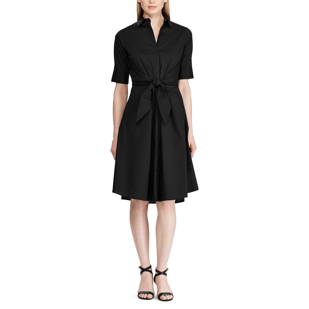 Платье-миди La Redoute Расклешенное с короткими рукавами 38 (FR) - 44 (RUS) черный платье la redoute расклешенное с короткими рукавами с гипюром 42 fr 48 rus черный